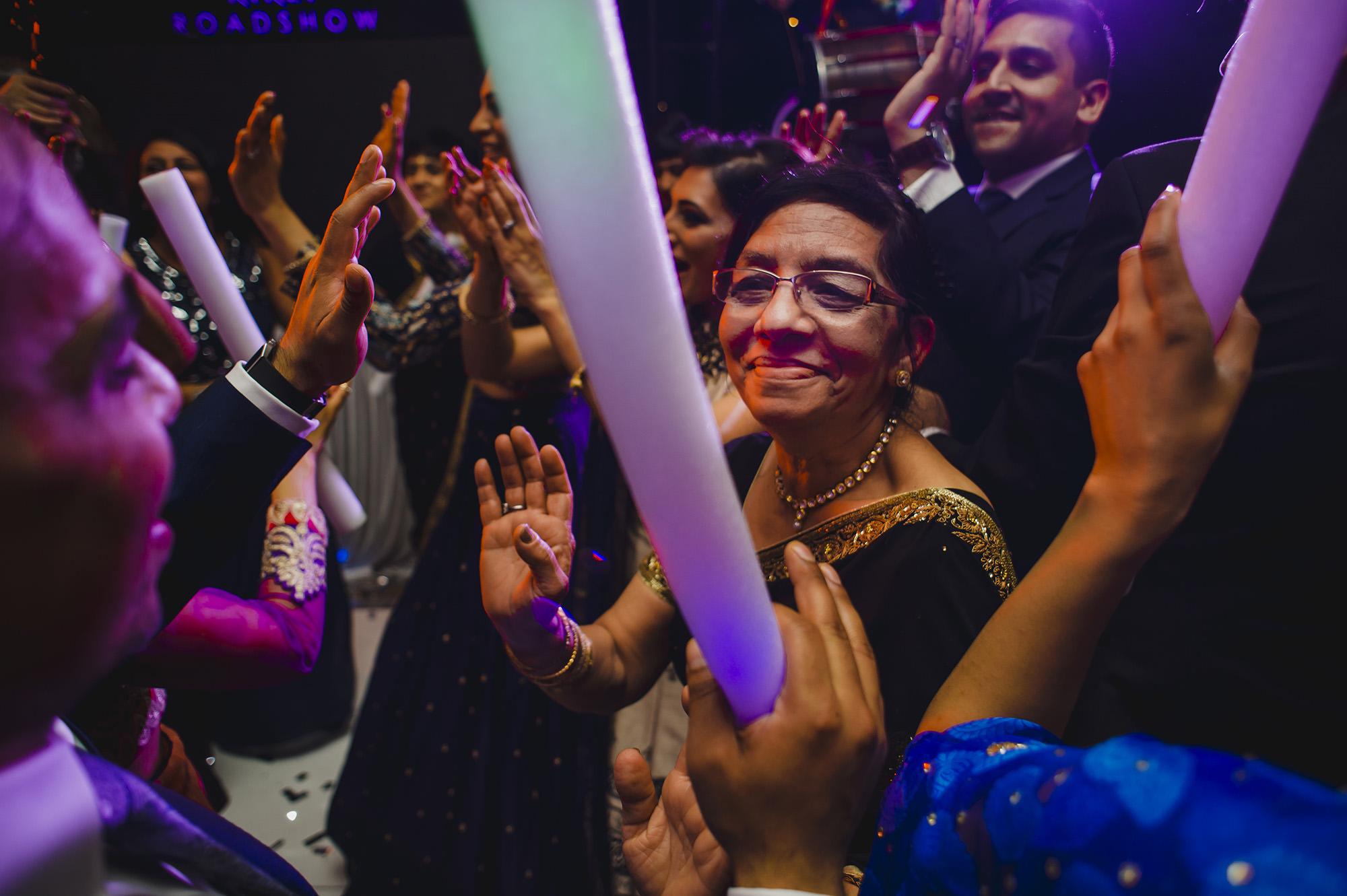 brides mum having fun on the dancefloor