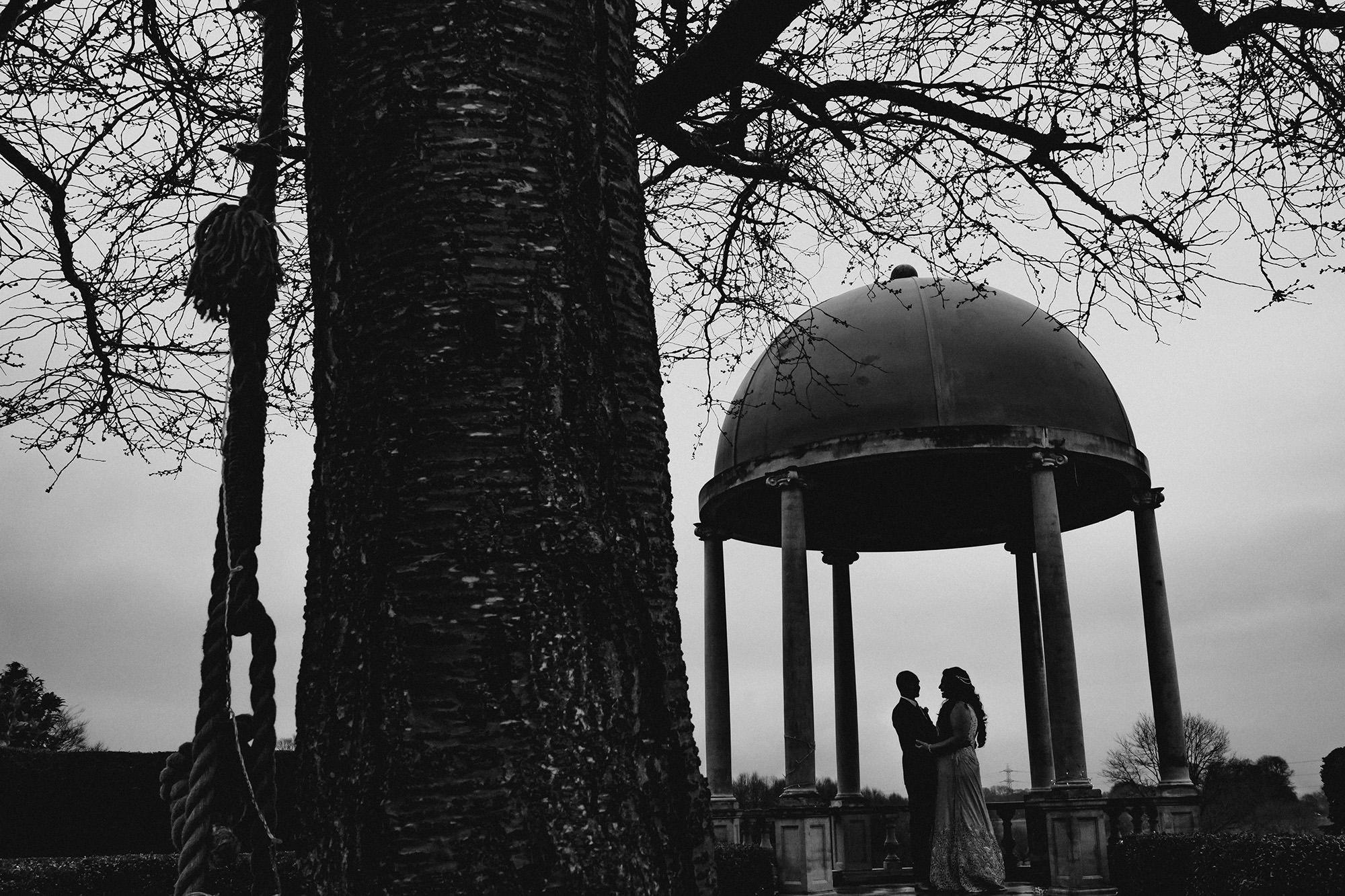 silhouette couple portrait at froyle park