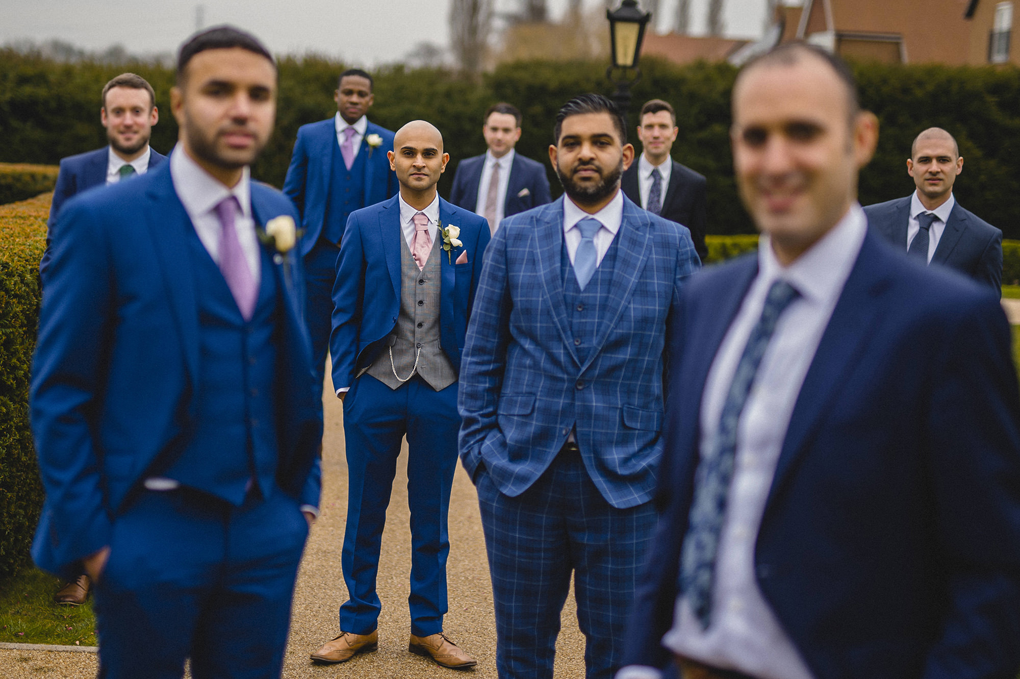 groom and his friends at froyle park