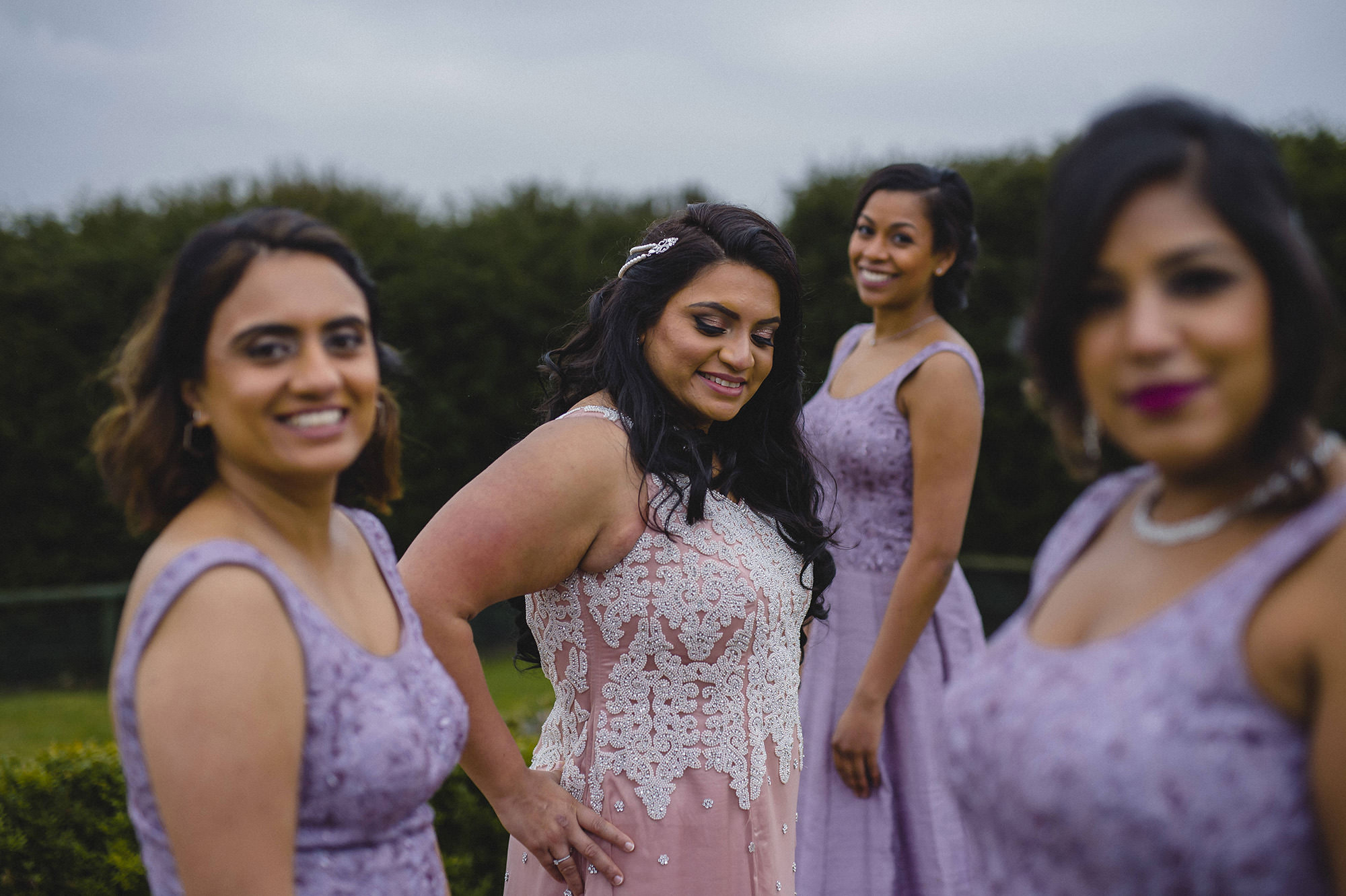 portrait with the bridesmaids at froyle park