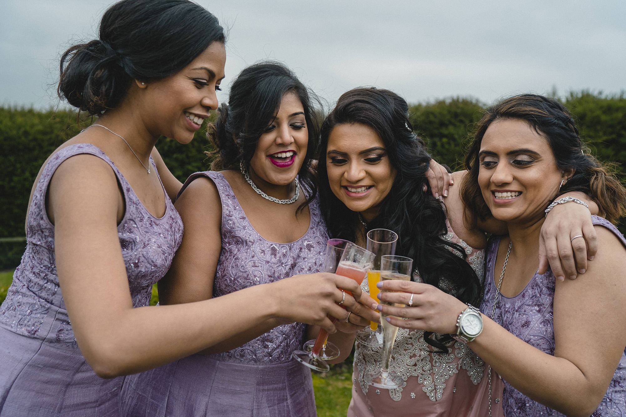 portrait with the bridesmaids