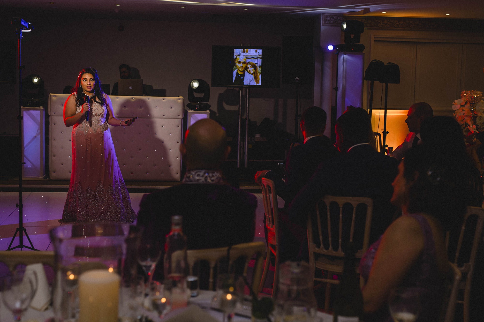 bride speech at her wedding reception