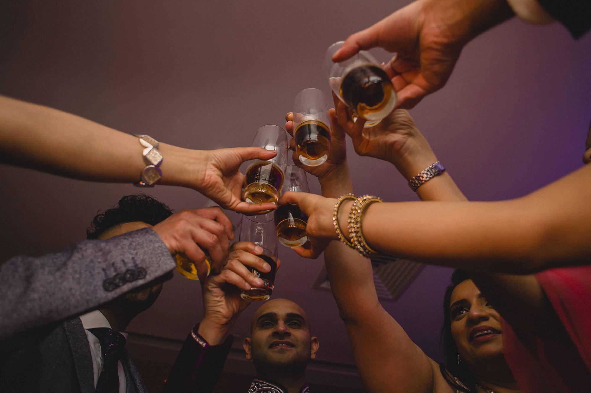 wedding guests alcoholic shots