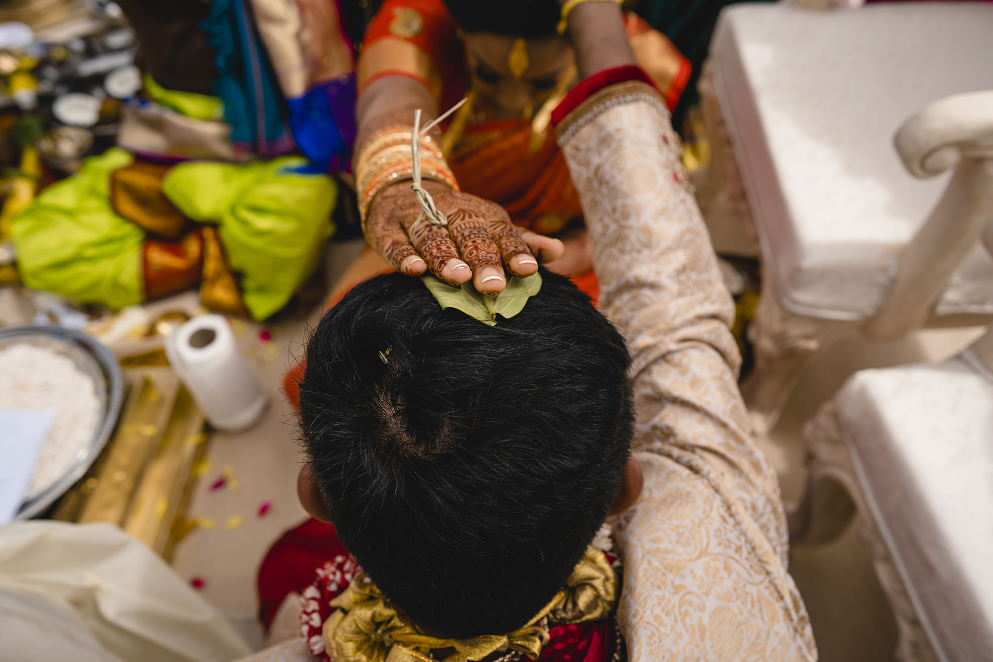 south asian wedding ceremony at poundon house