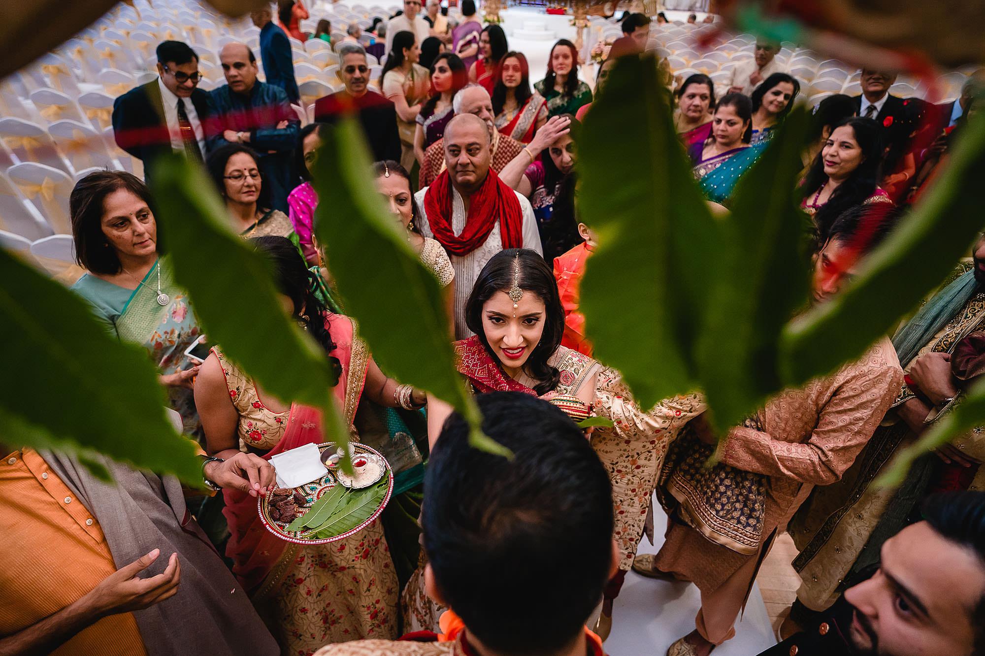 groom blessing at hindu wedding