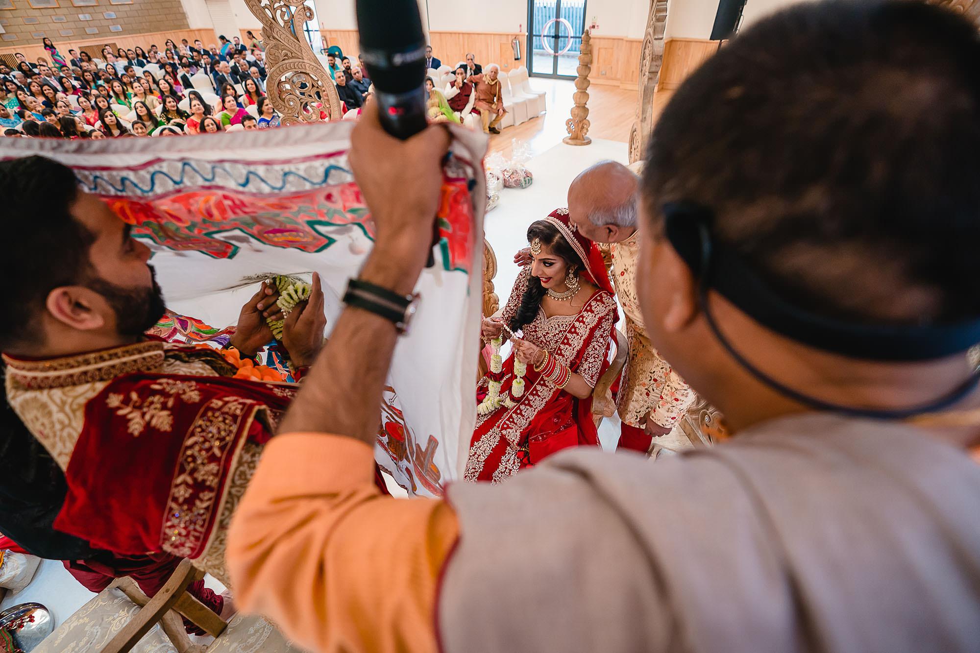 bridal entering the mandap