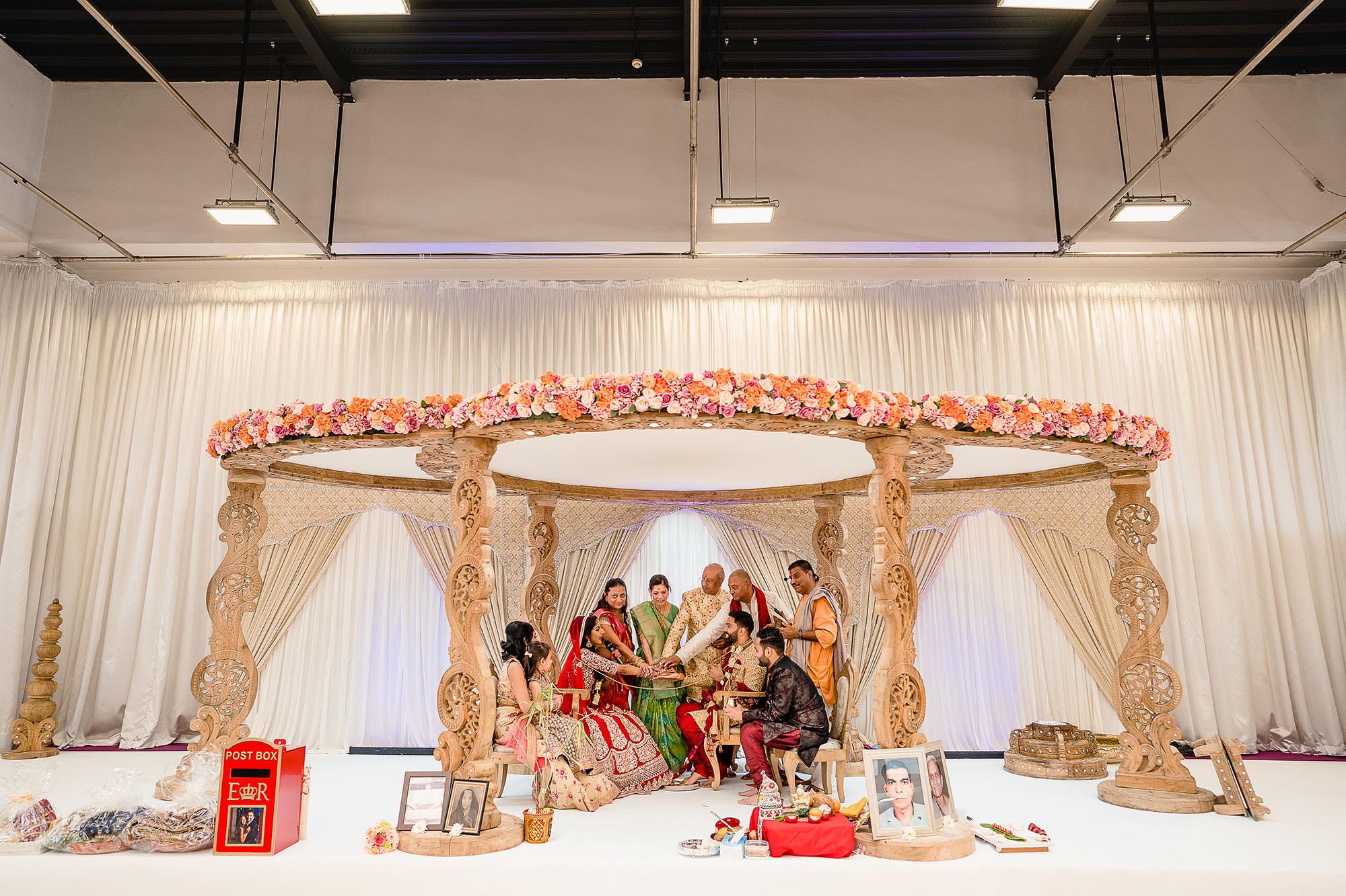 mandap at the hindu wedding