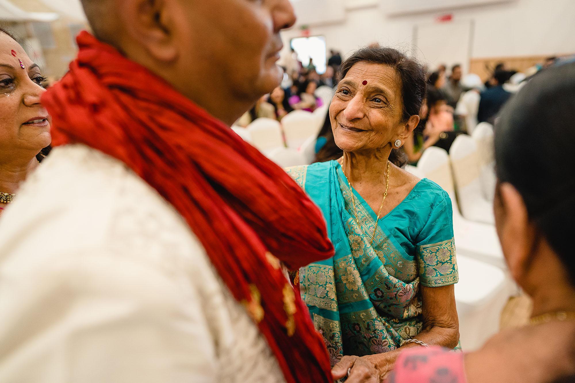 grandmother at wedding