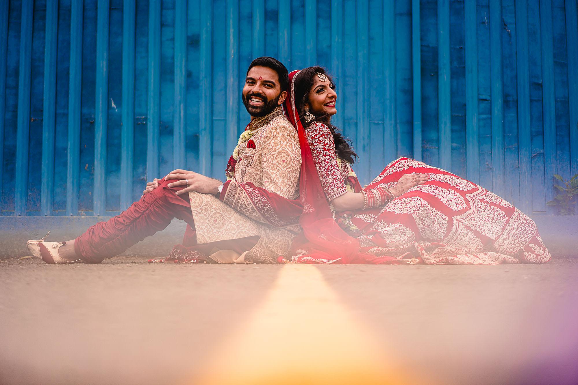 creative hindu wedding portraits