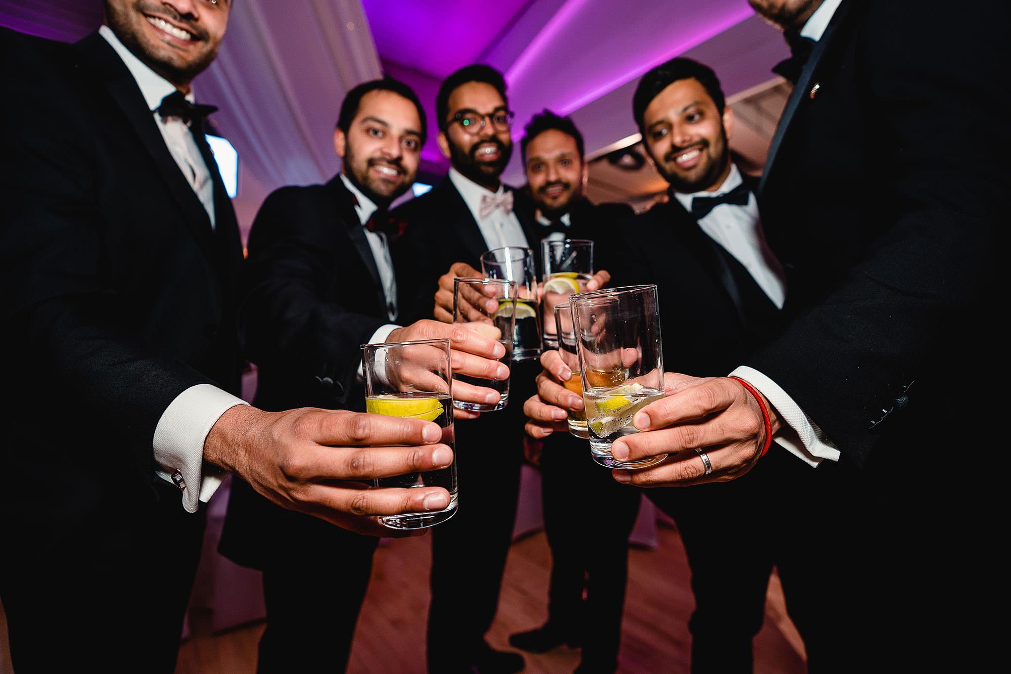 grooms friends drinks