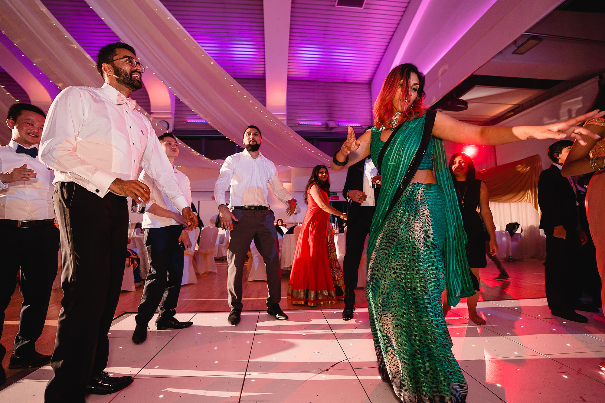 dance off at wedding reception