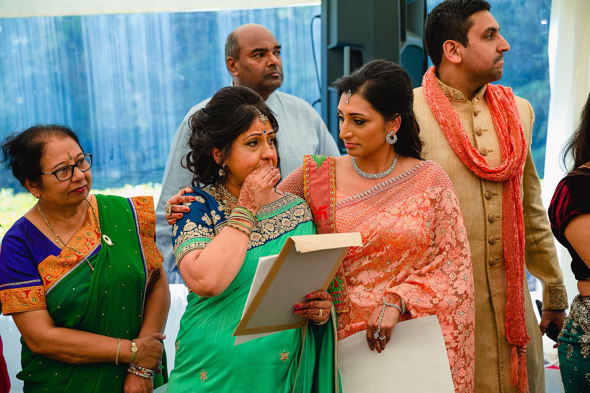brides mum emotional during bride entrance