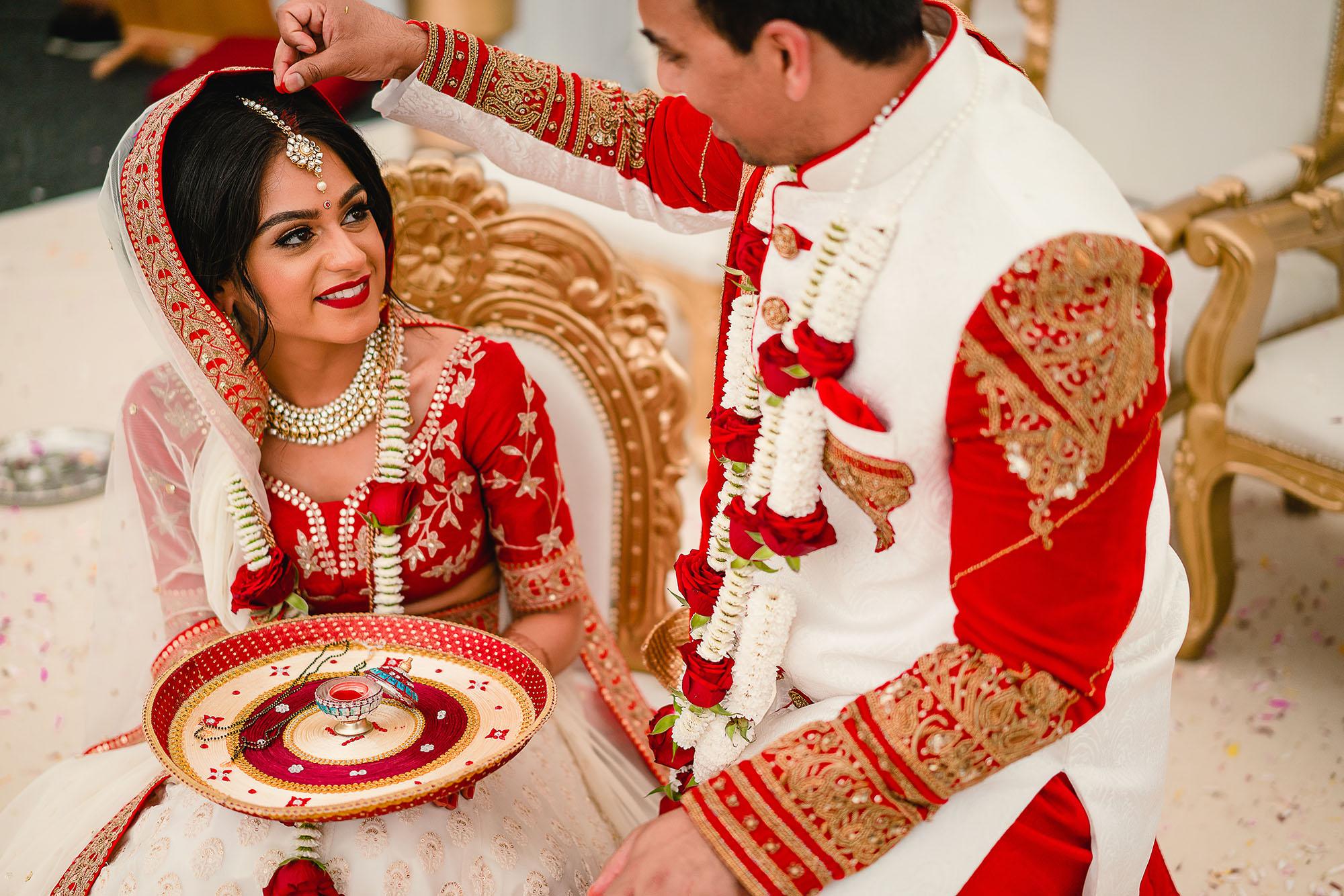 sindhoor ceremony at hindu wedding