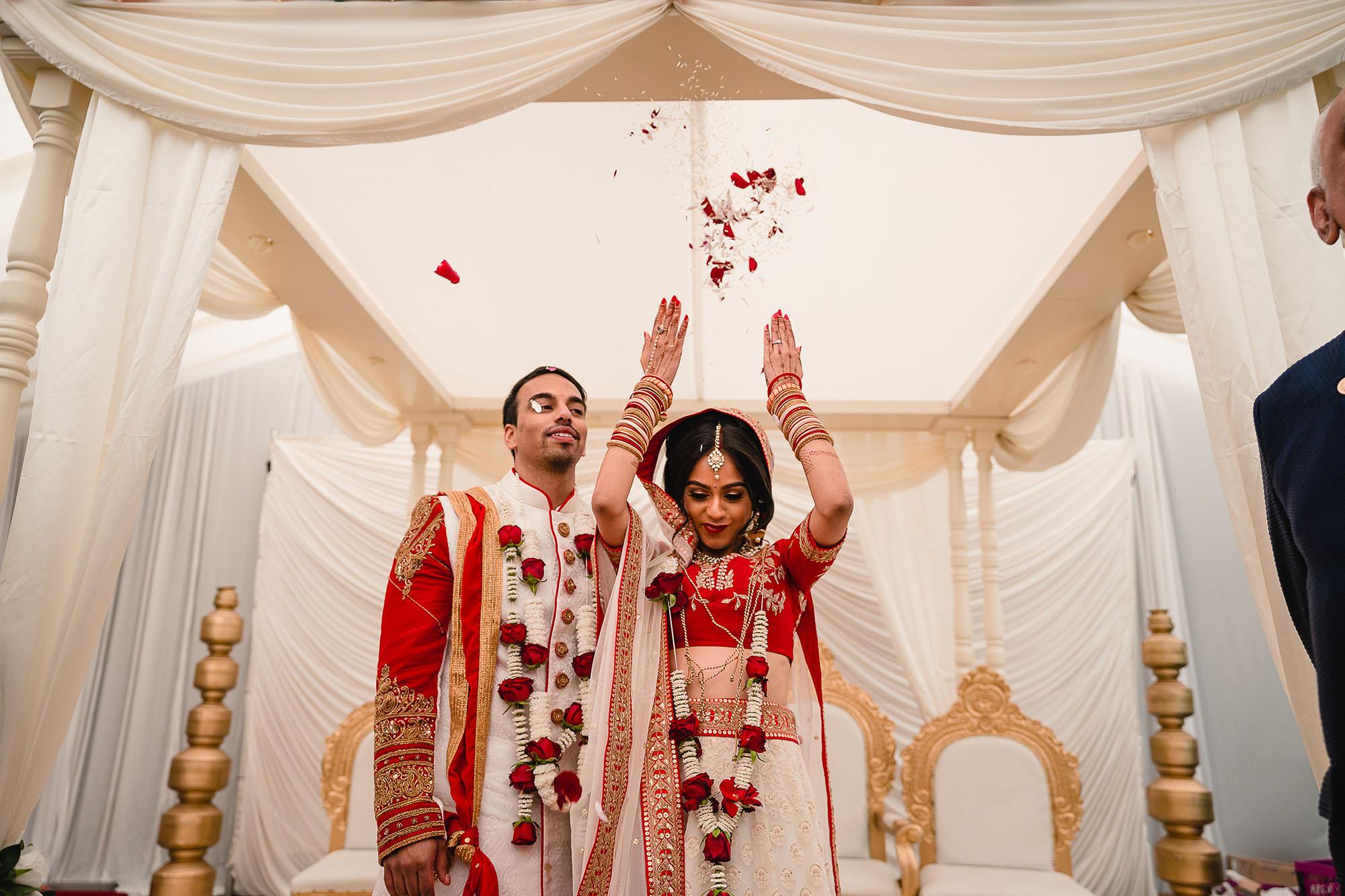 bride and groom closing ceremony