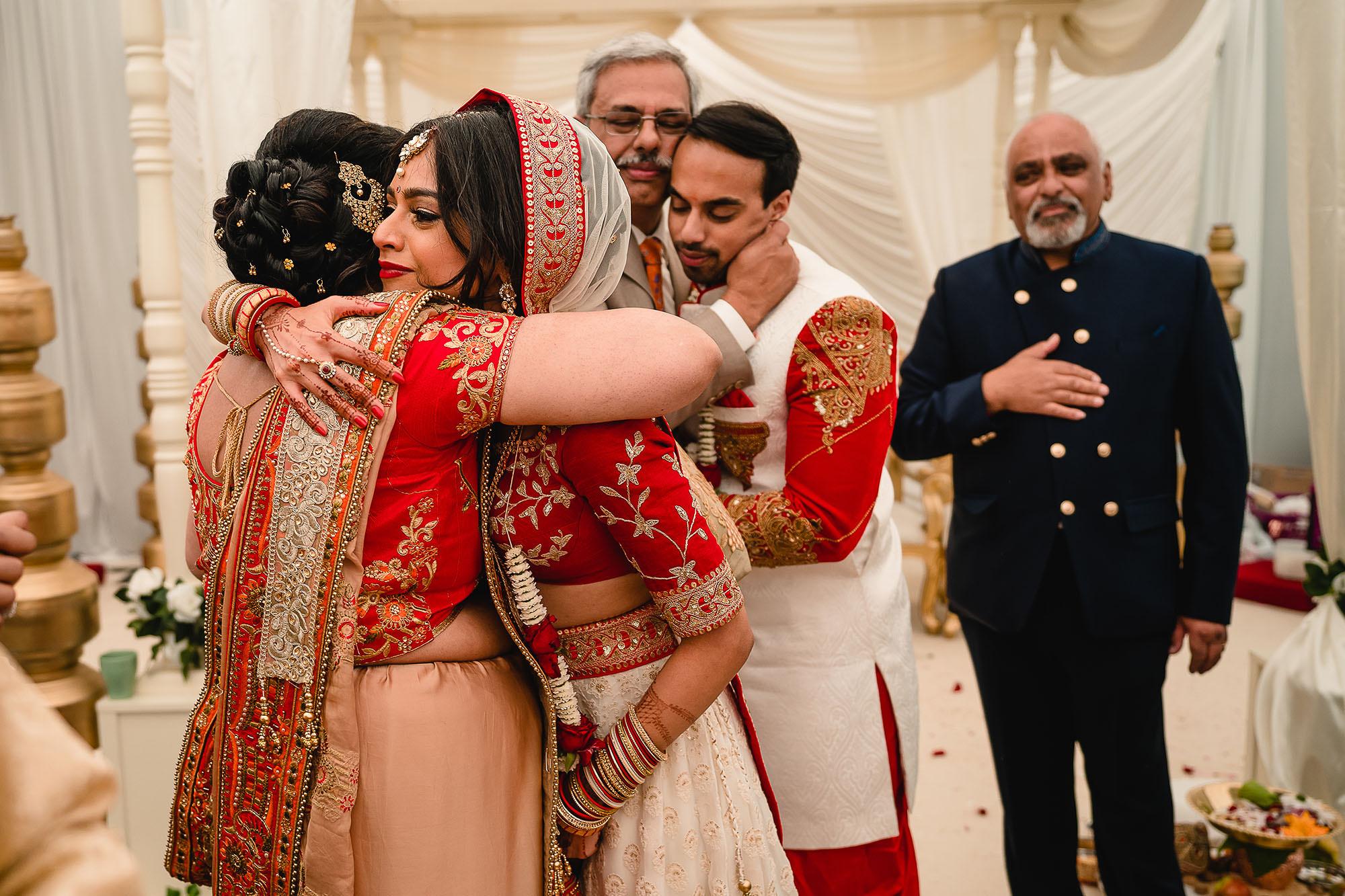 brides proud father during vidai ceremony
