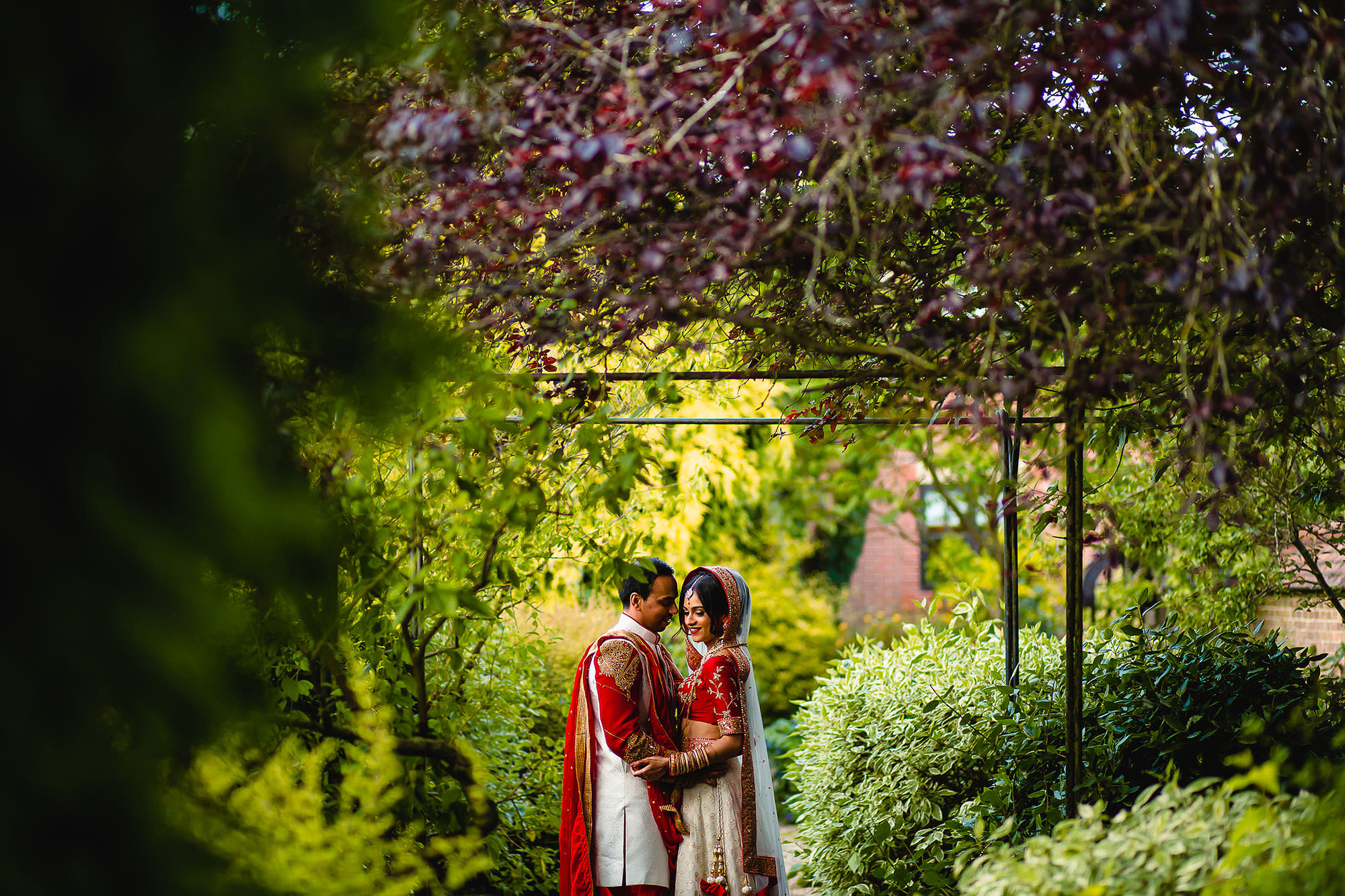 bride and groom portrait at dunchurch park