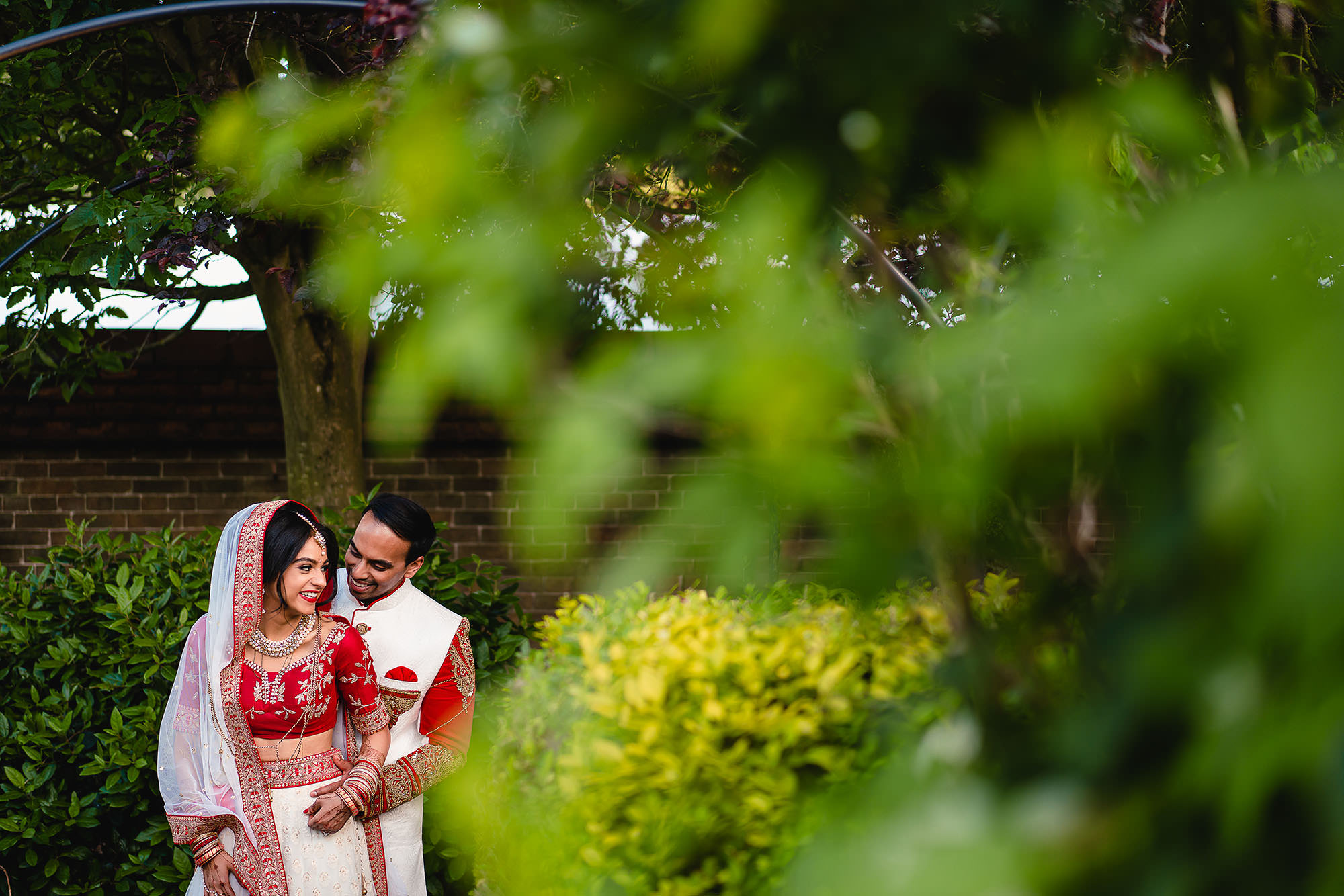 indian bride and groom at dunchurch park