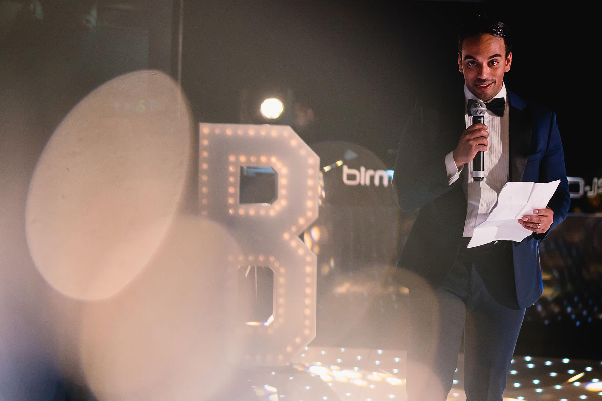 grooms speech at wedding reception at dunchurch park