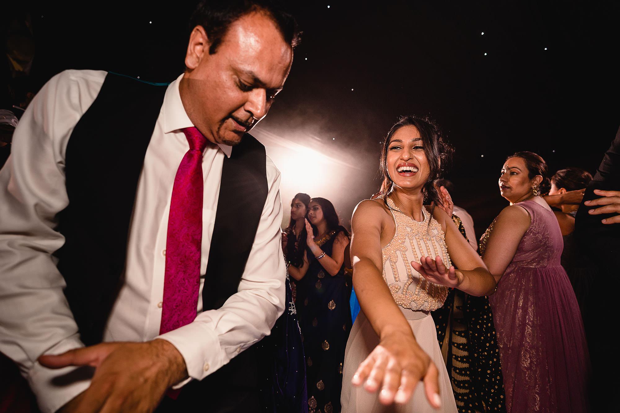 wedding guests enjoying themselves