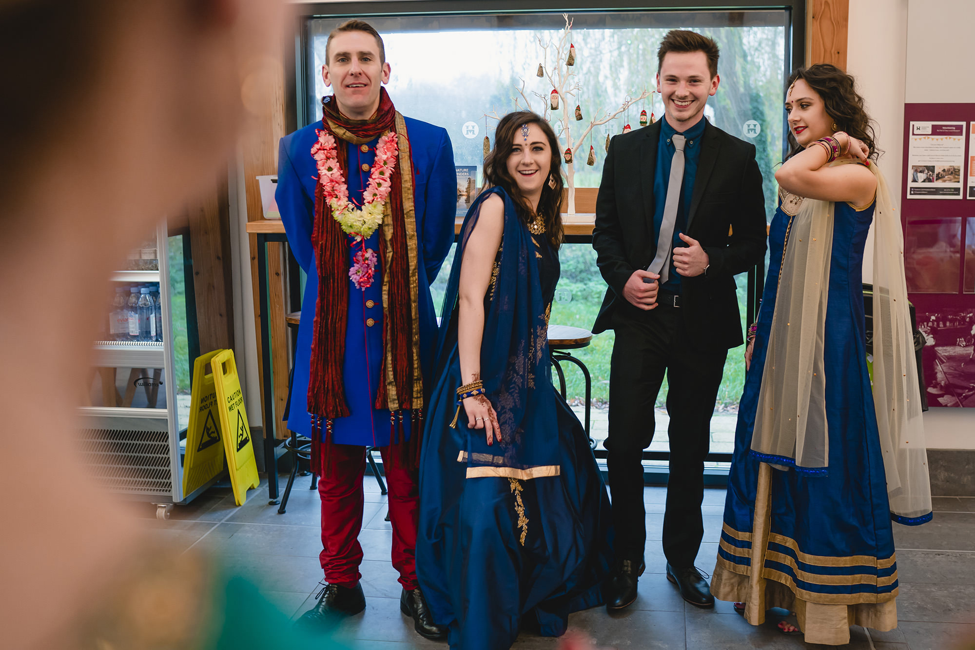 groom family hindu wedding at the great barn