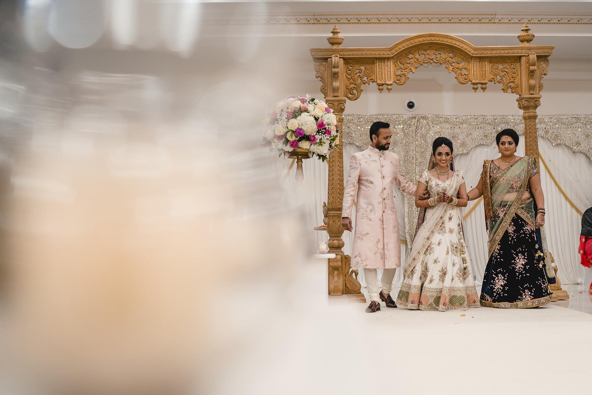 hindu bride making her entrance