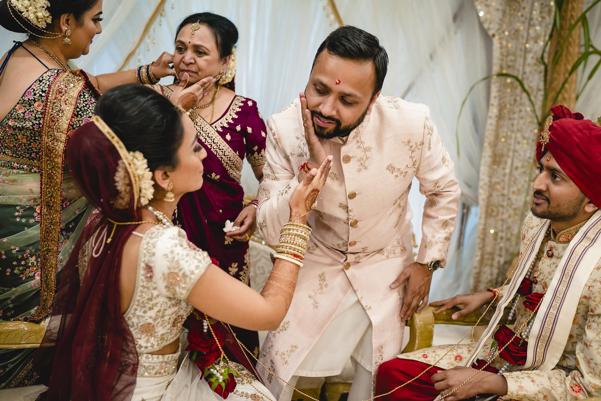 hindu wedding ceremony bride and brother