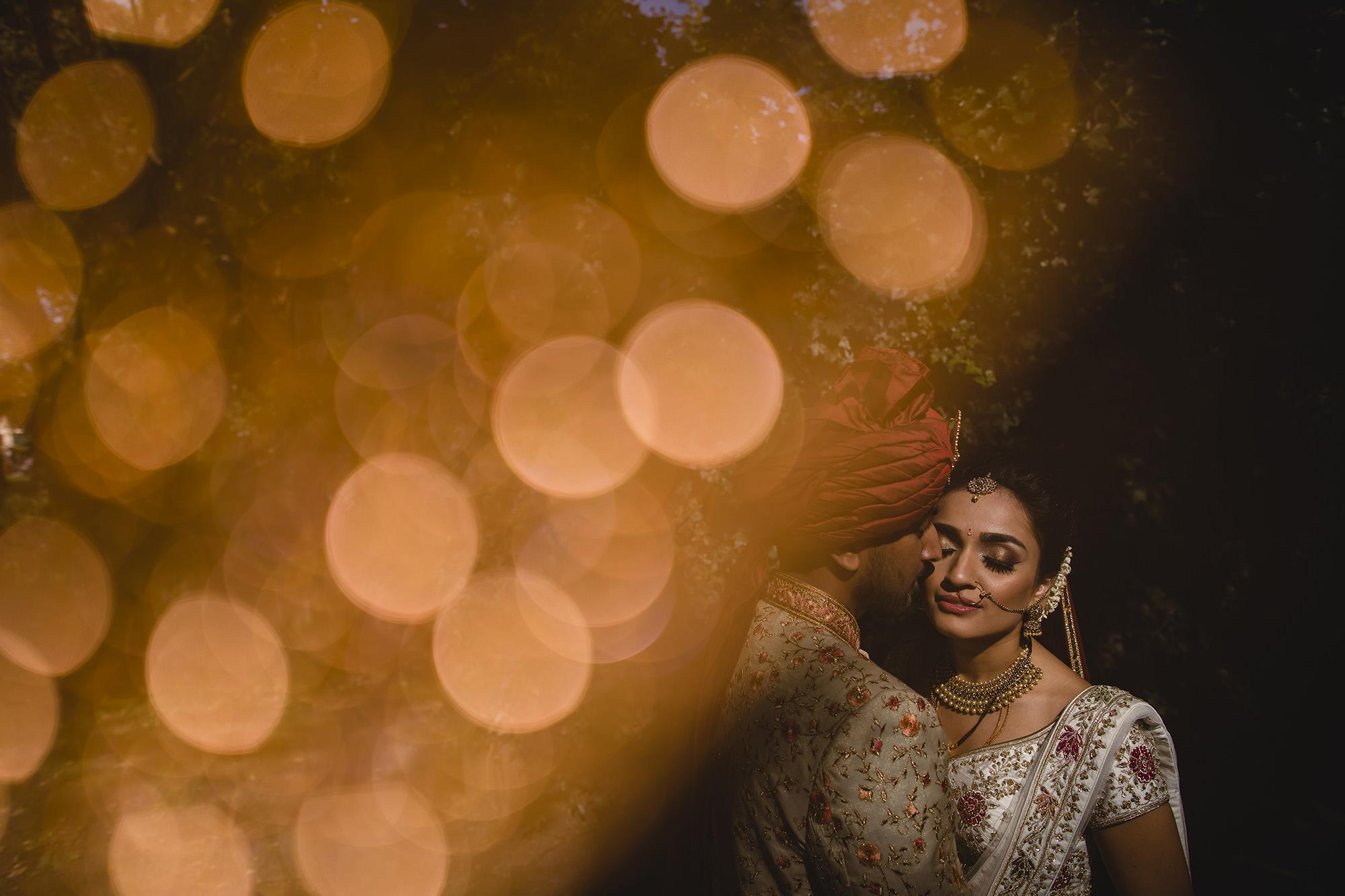 hindu bride and groom portrait
