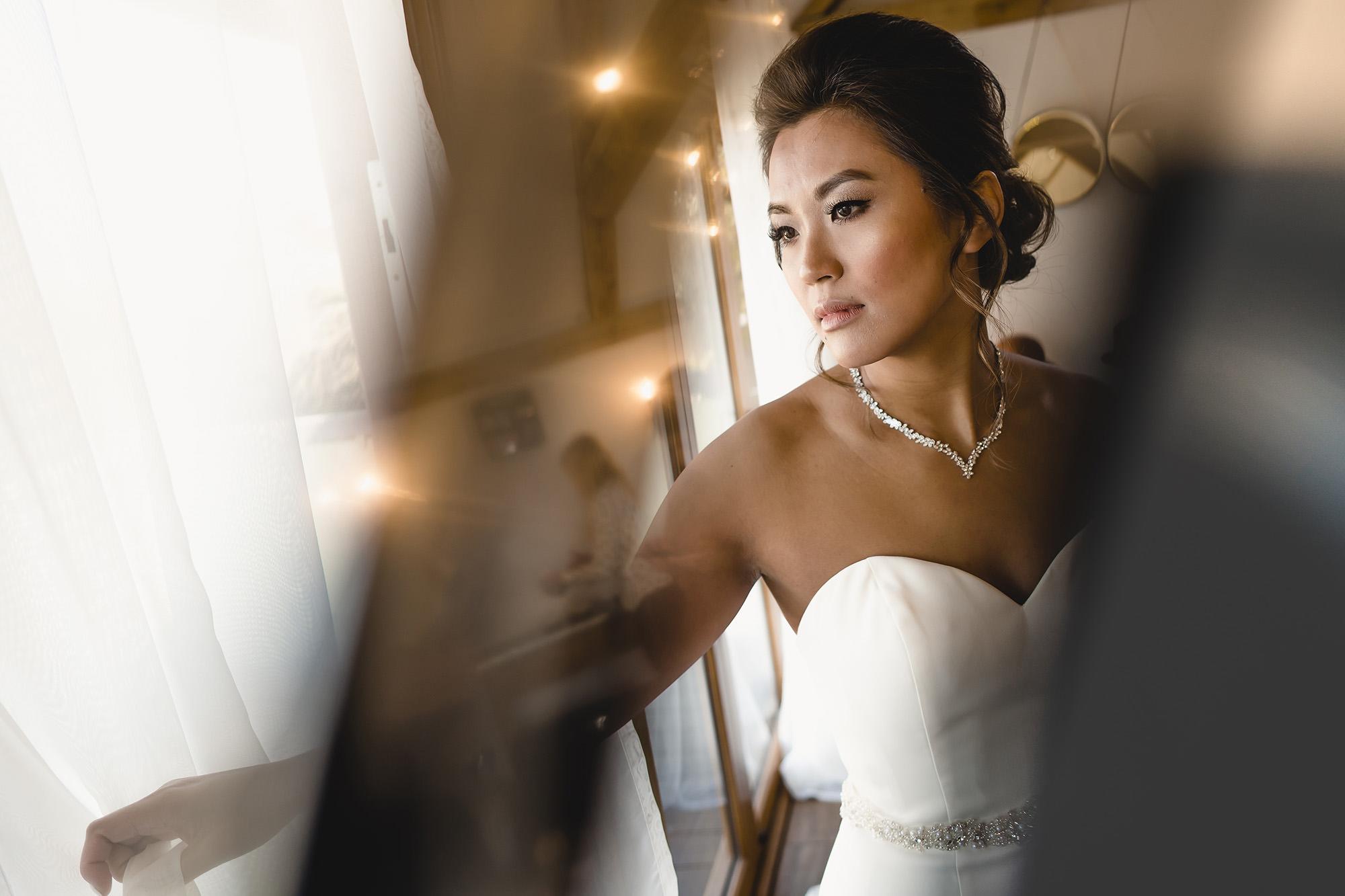bridal portrait english wedding