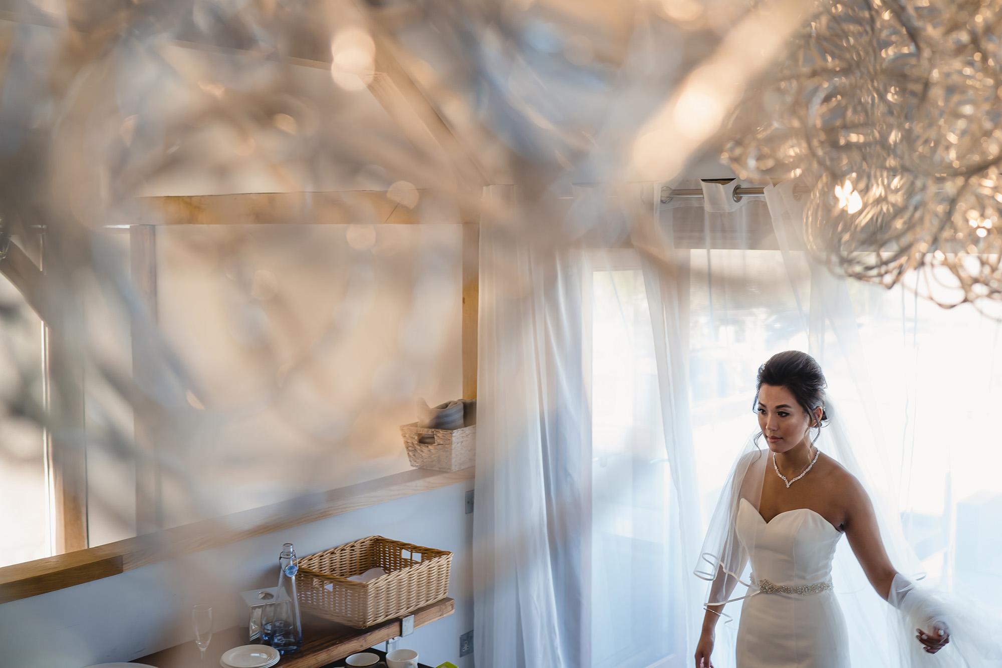 bride getting ready for english wedding ceremony