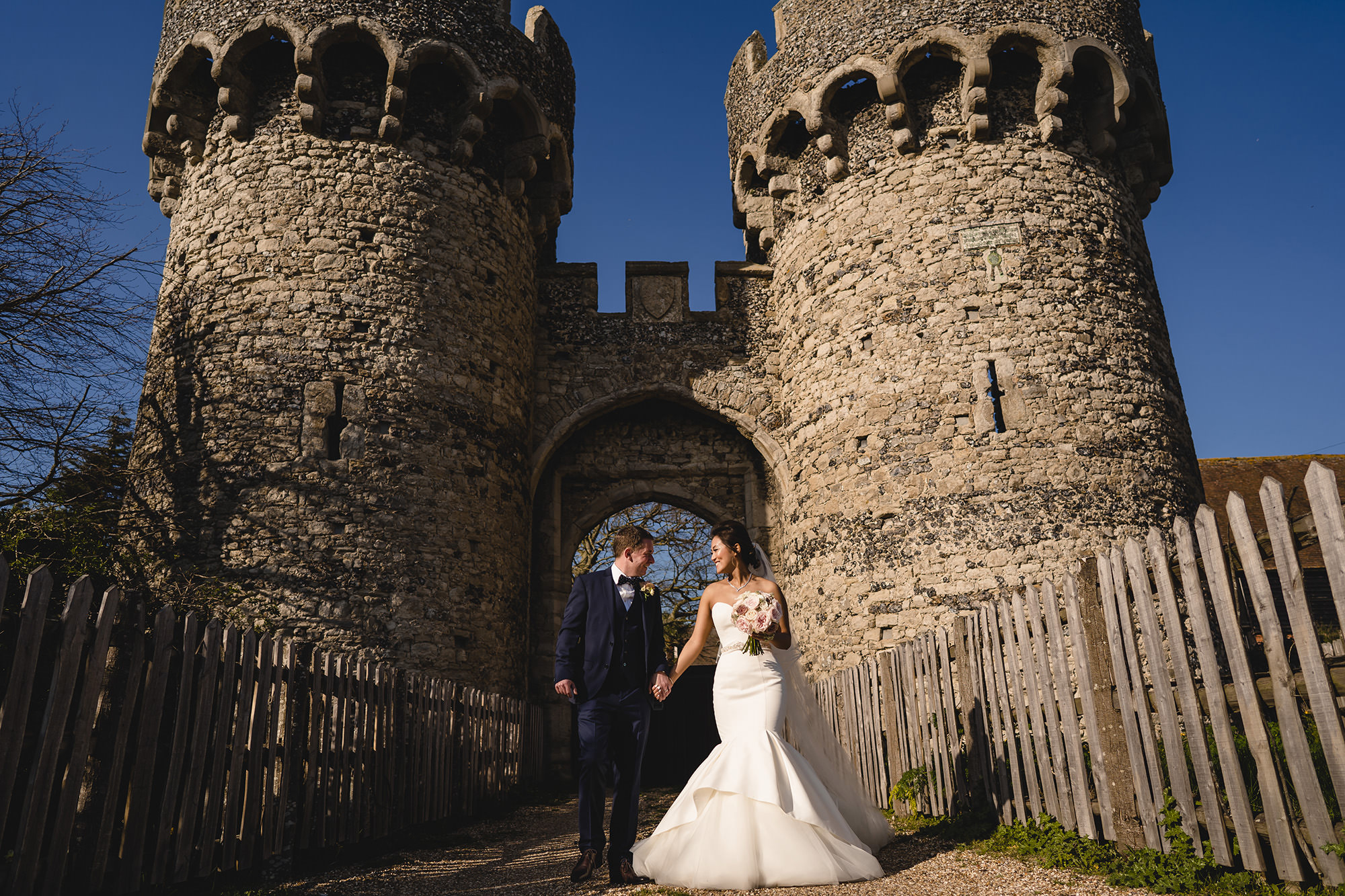 bride and groom wedding portrait cooling castle barn