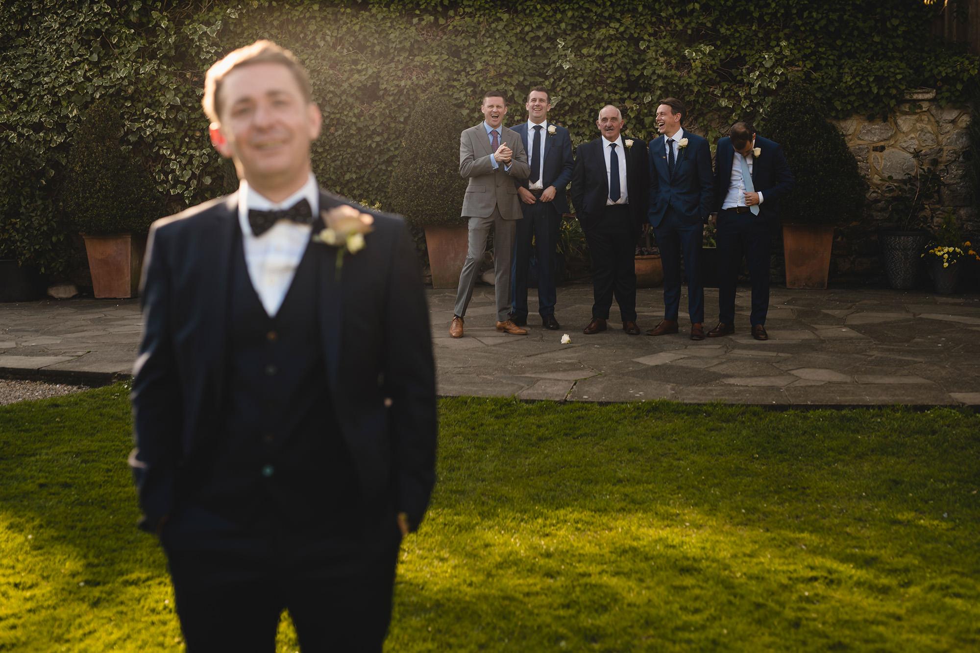 portrait of groom and groomsmen