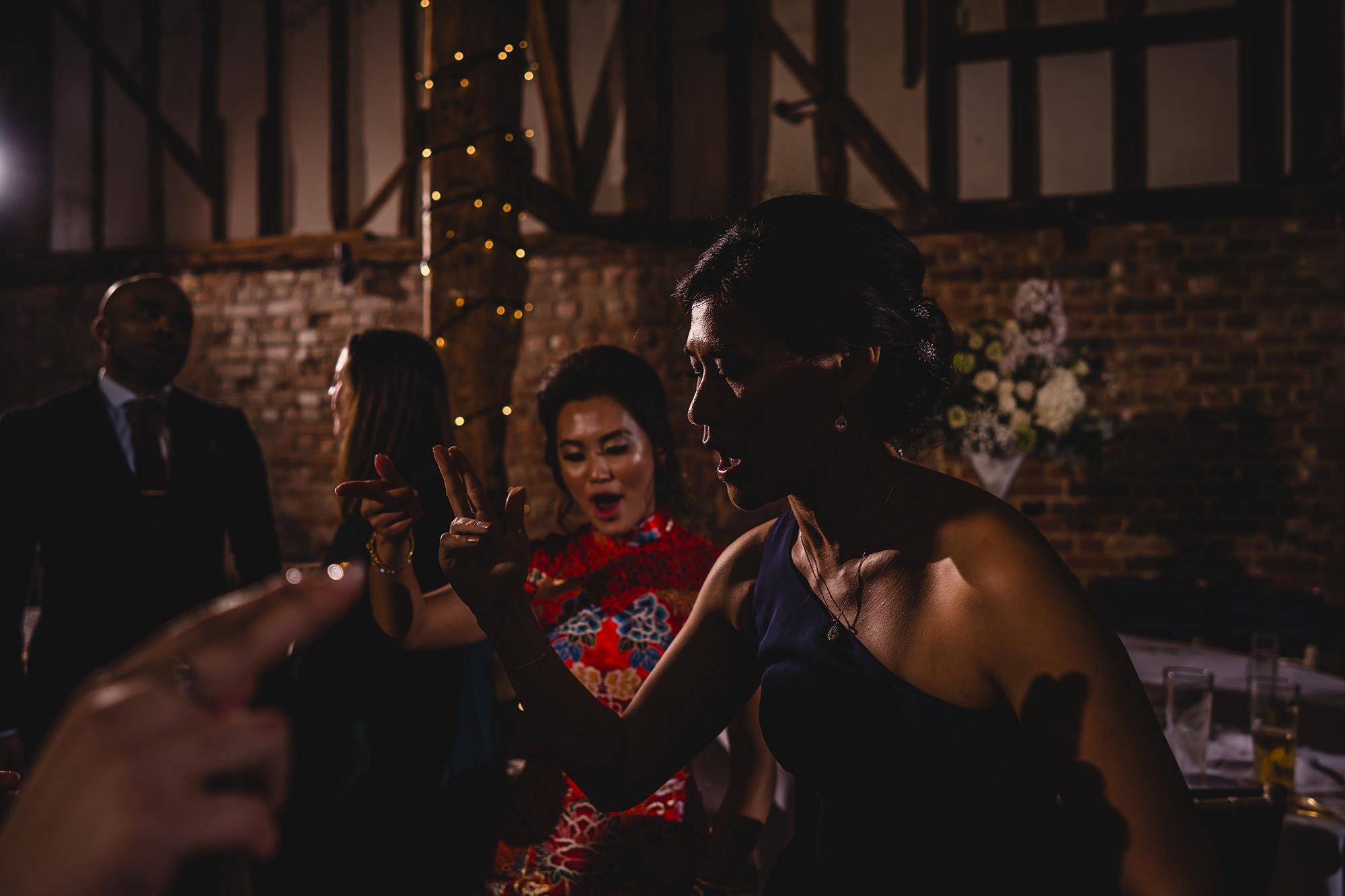 wedding reception party guests dancing