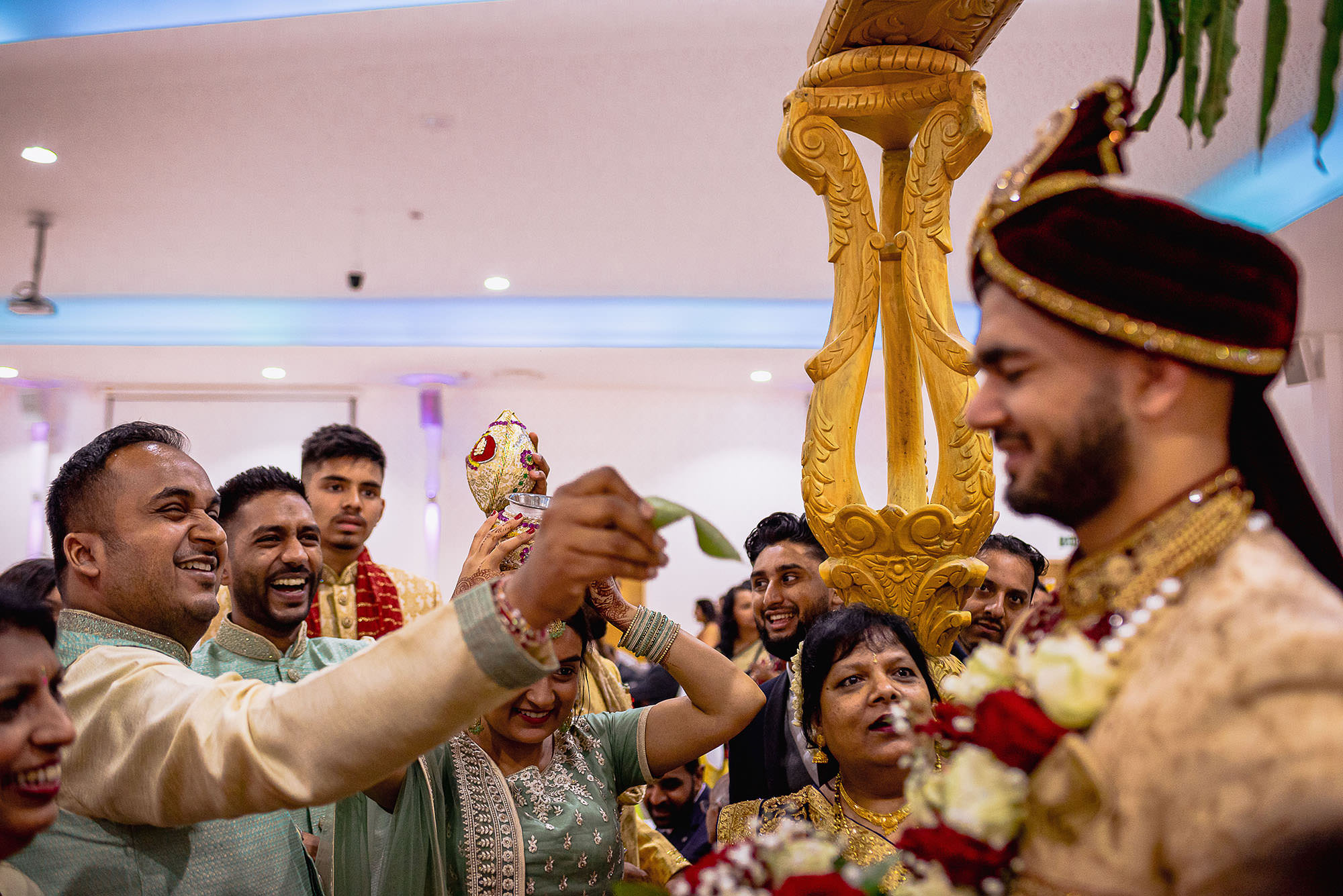 groom blessing ceremony hindu wedding devan jigna