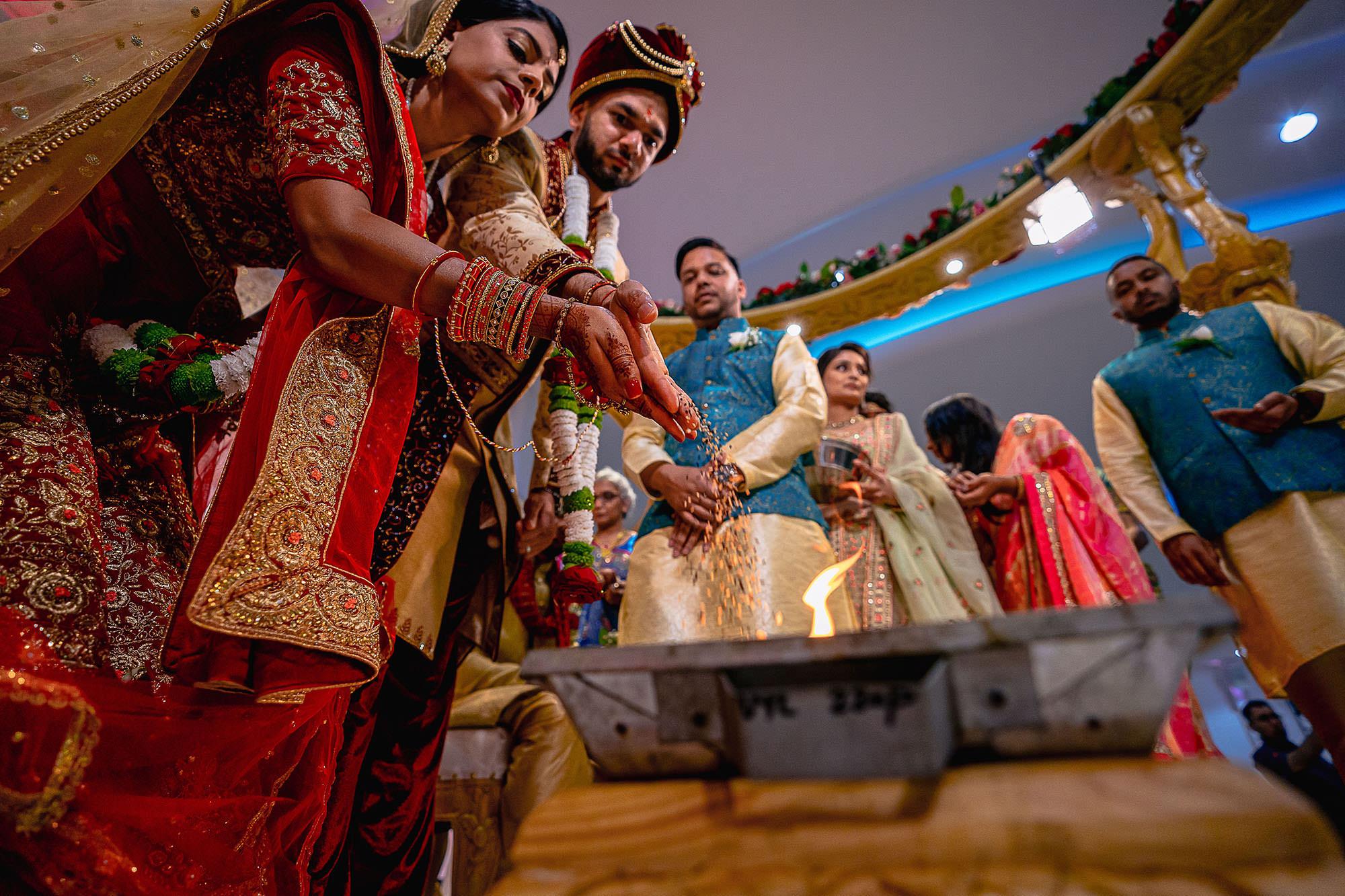 hindu wedding fire ceremony leicester devan jigna