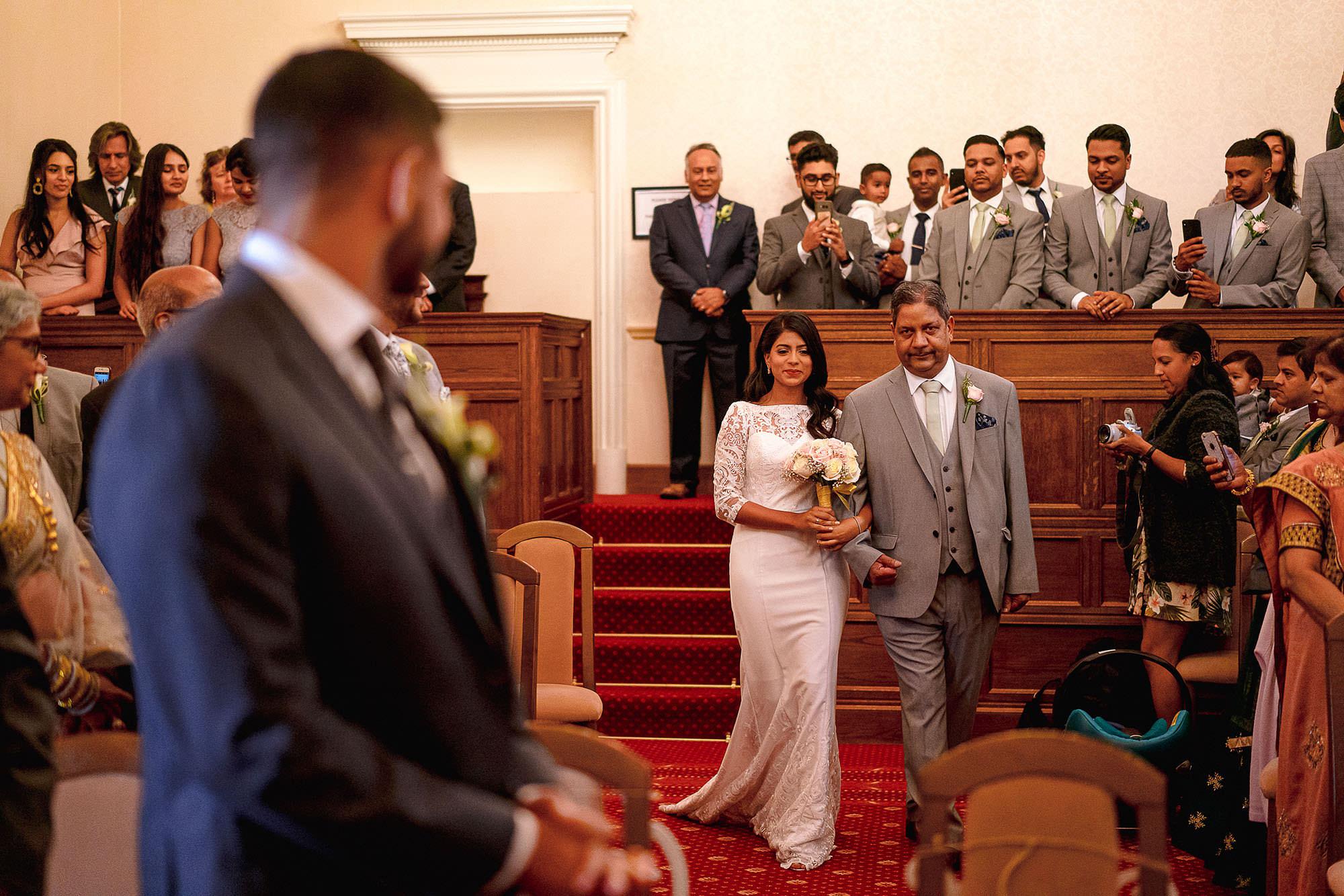 leicester bridal entrance civil wedding devan jigna