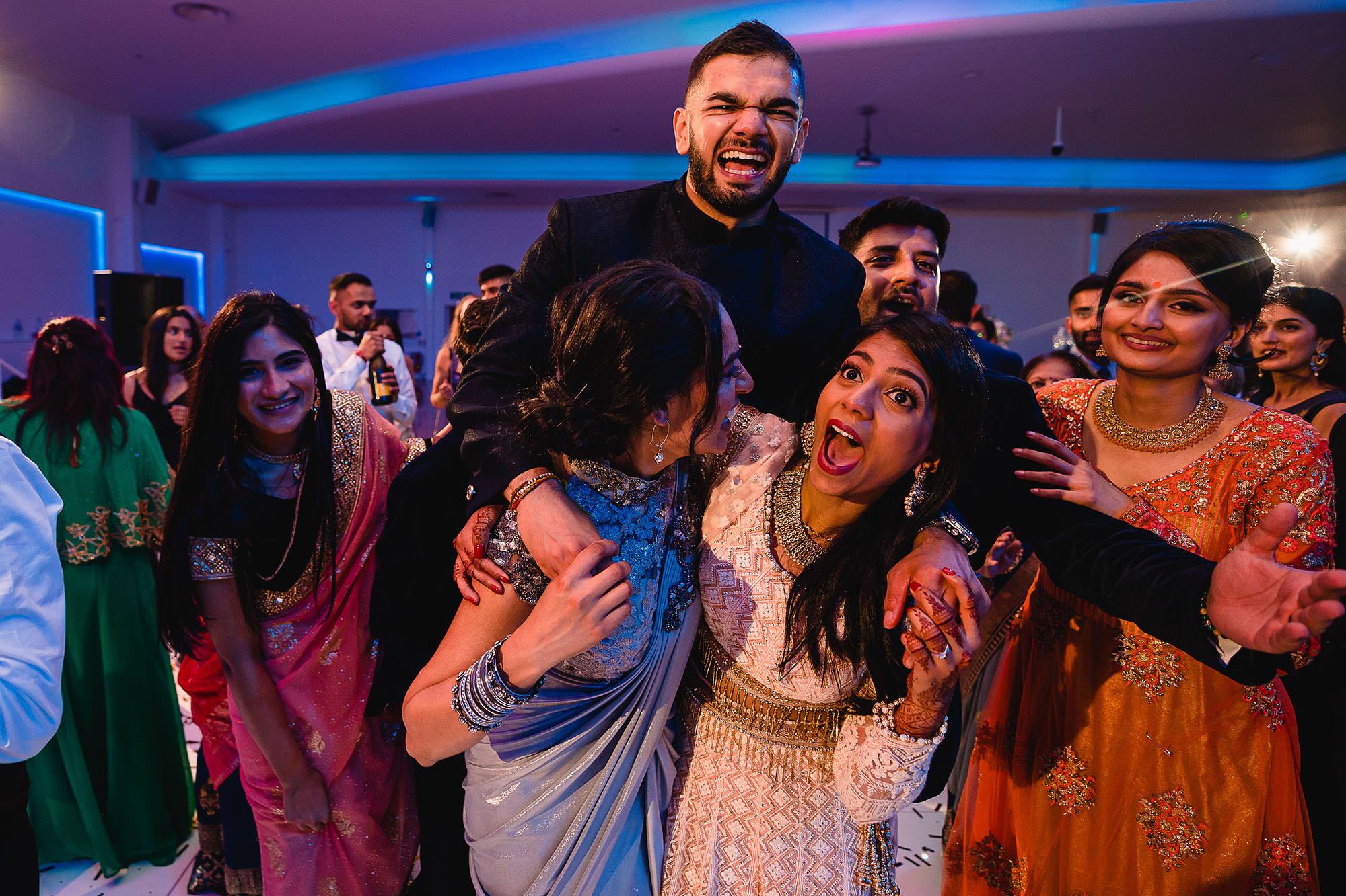 crazy parties with bride and groom leicester devan jigna