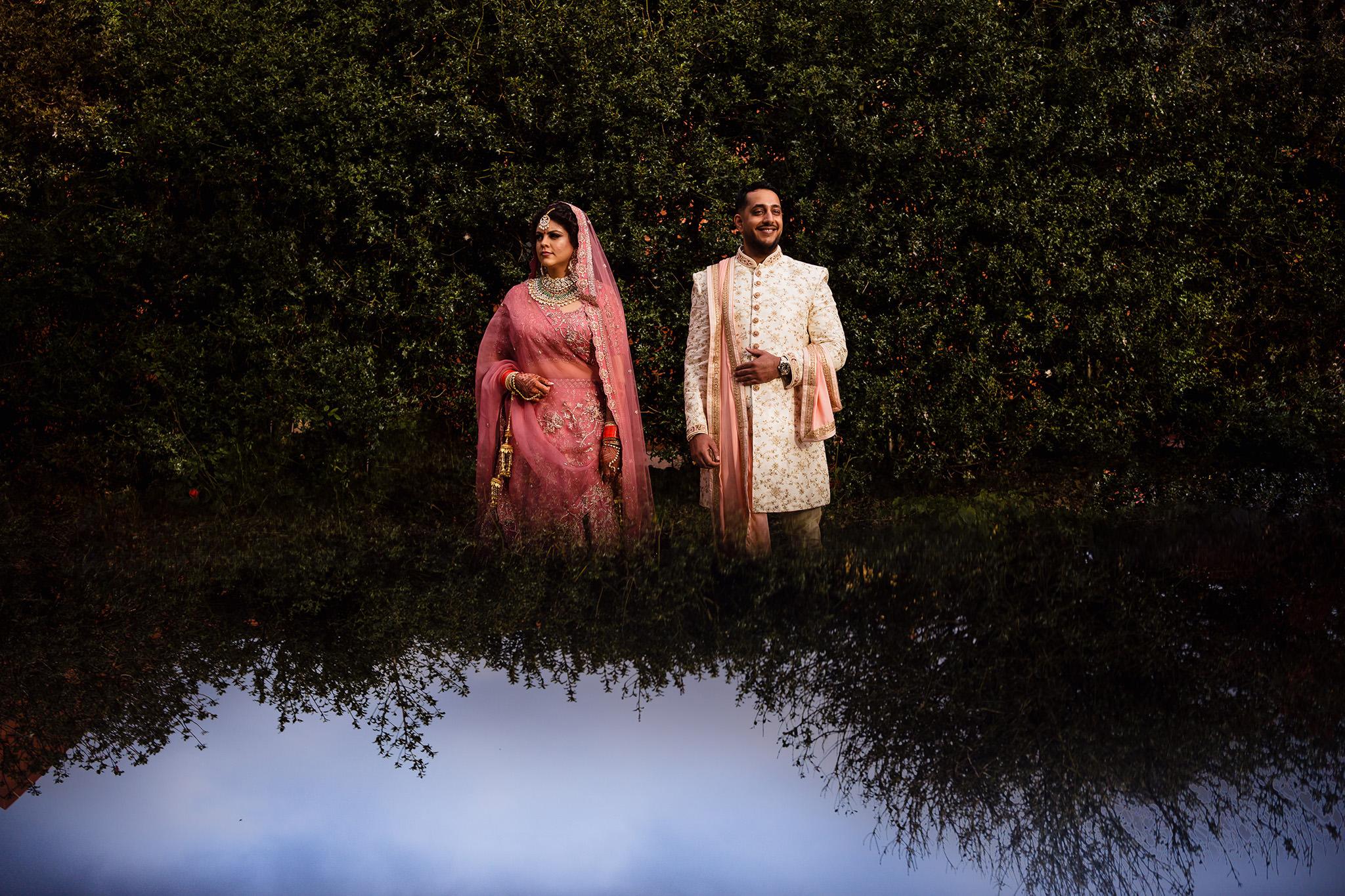 Hindu wedding couple photo
