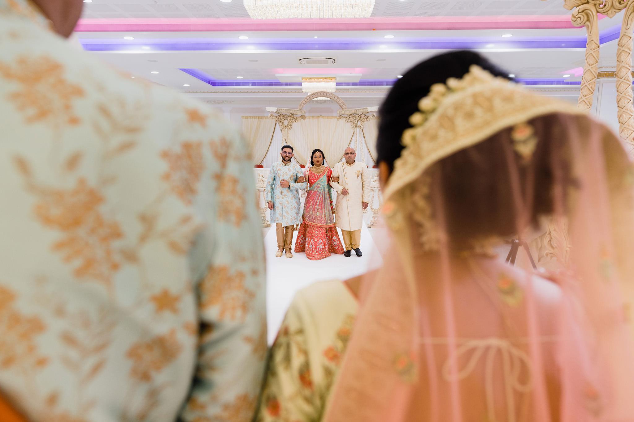 Bridal entrance at Hindu Wedding