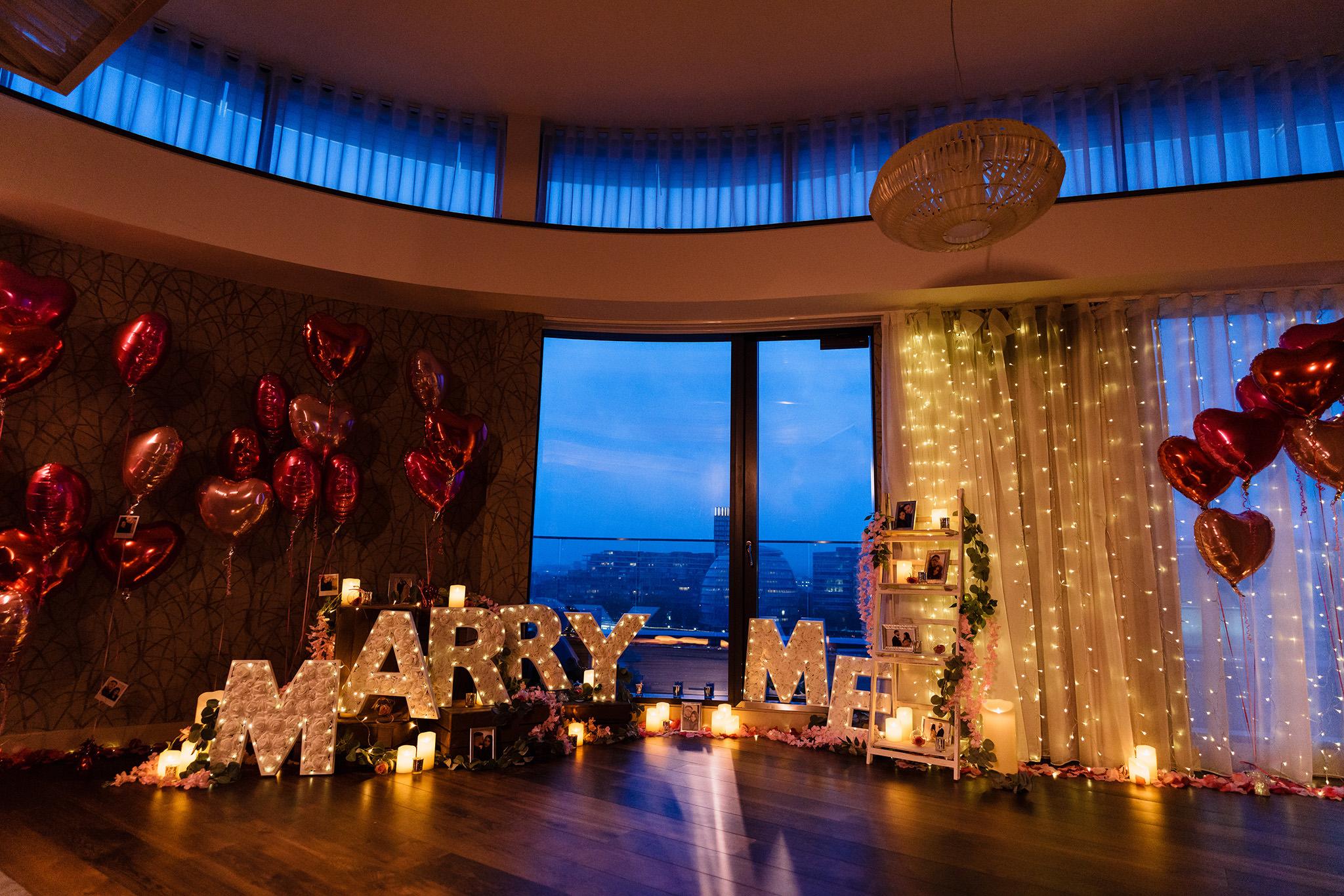london proposal shoot