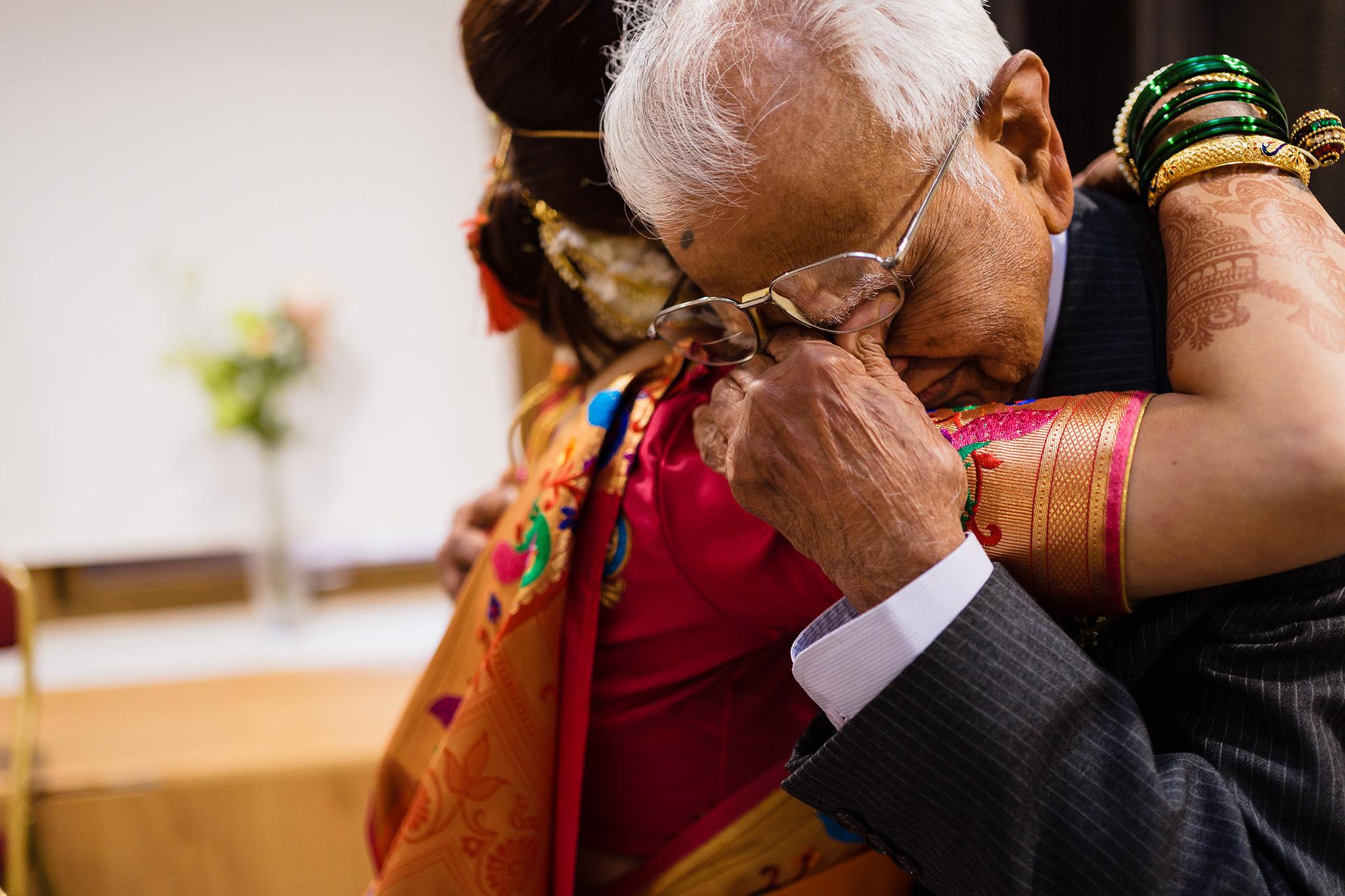 emotional wedding photograph