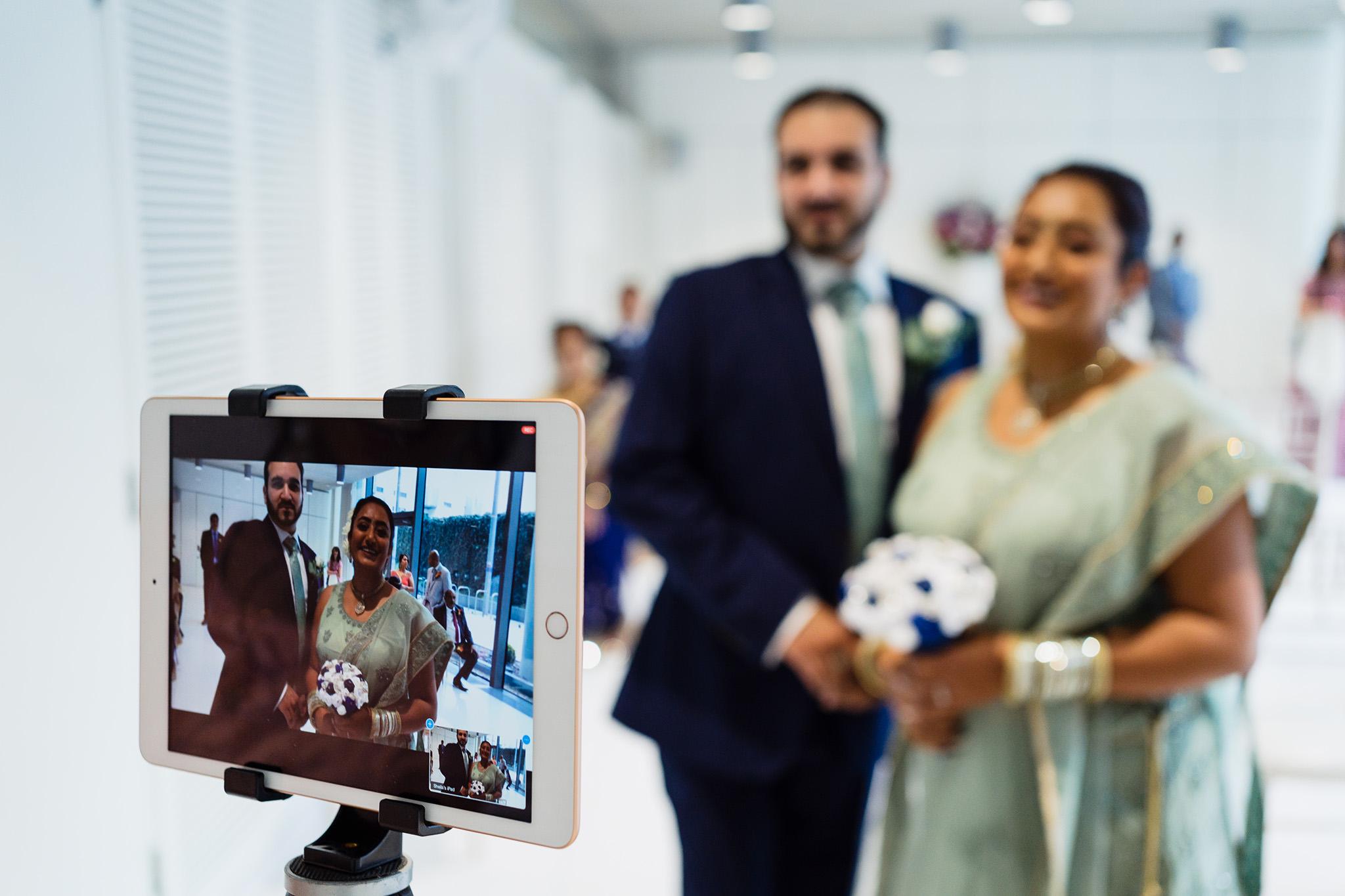 Covid wedding photograph