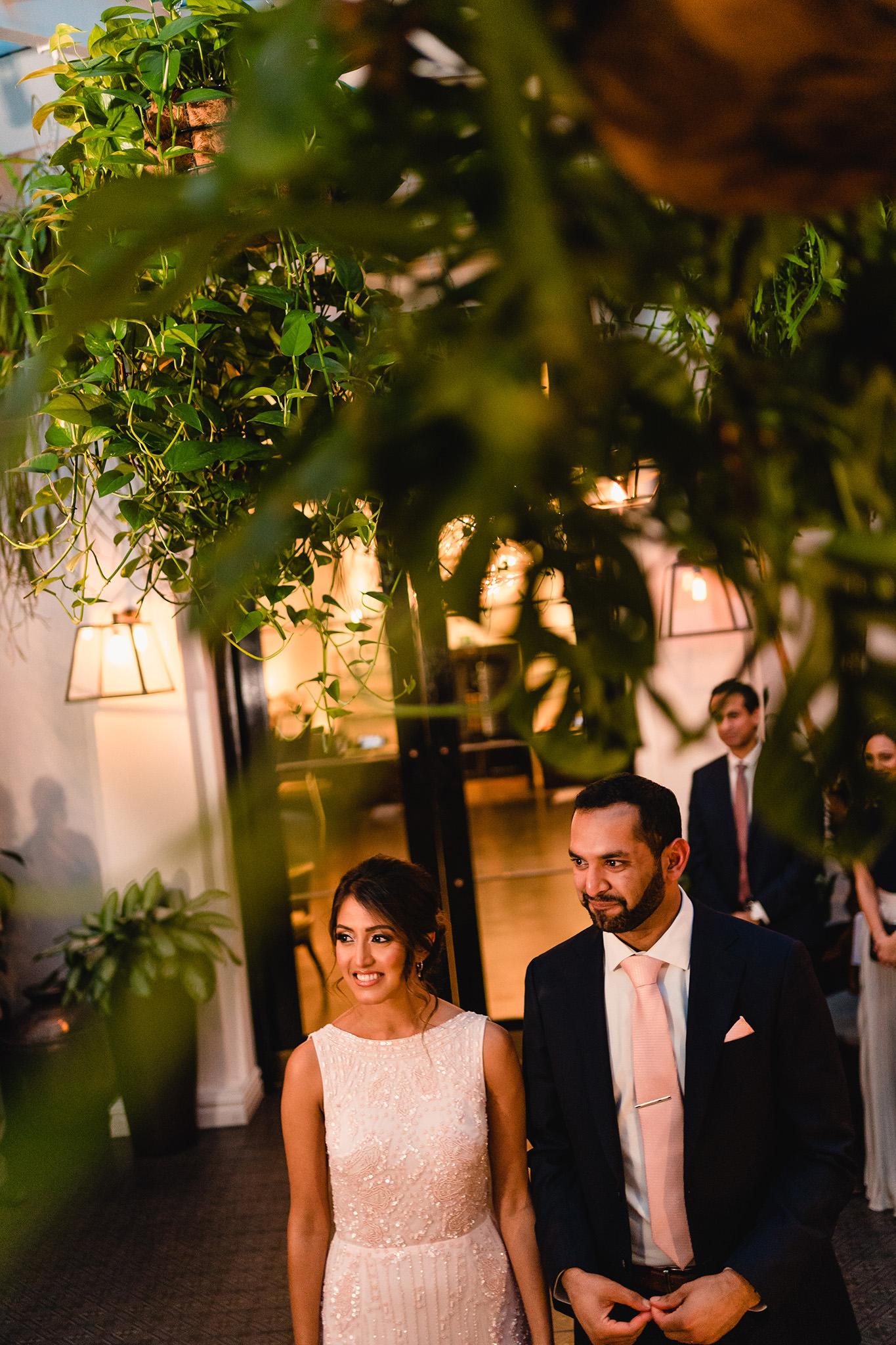 natural civil wedding photo