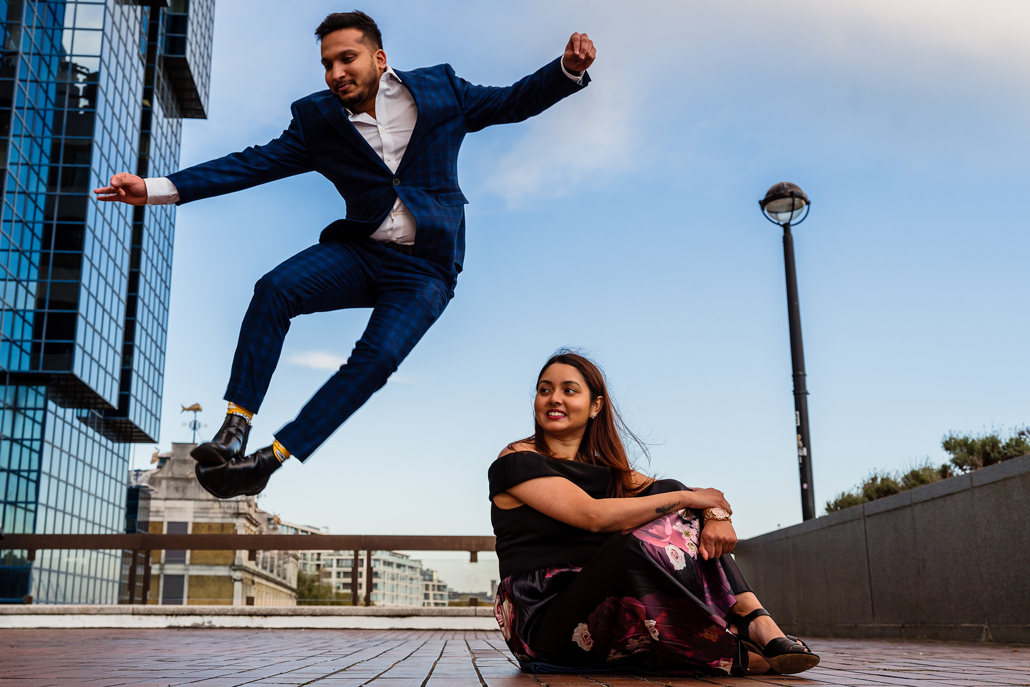london fun prewedding shoot