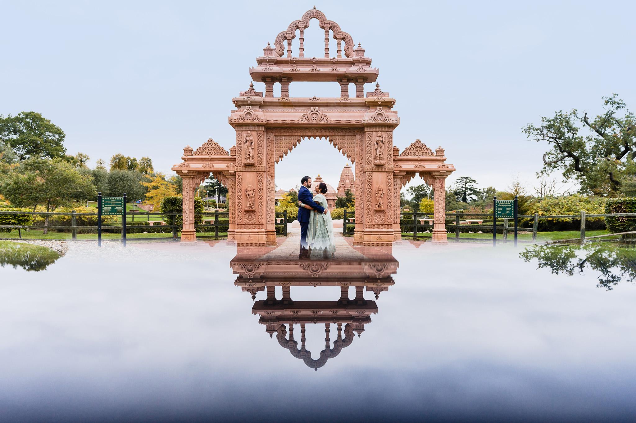 posed wedding photo