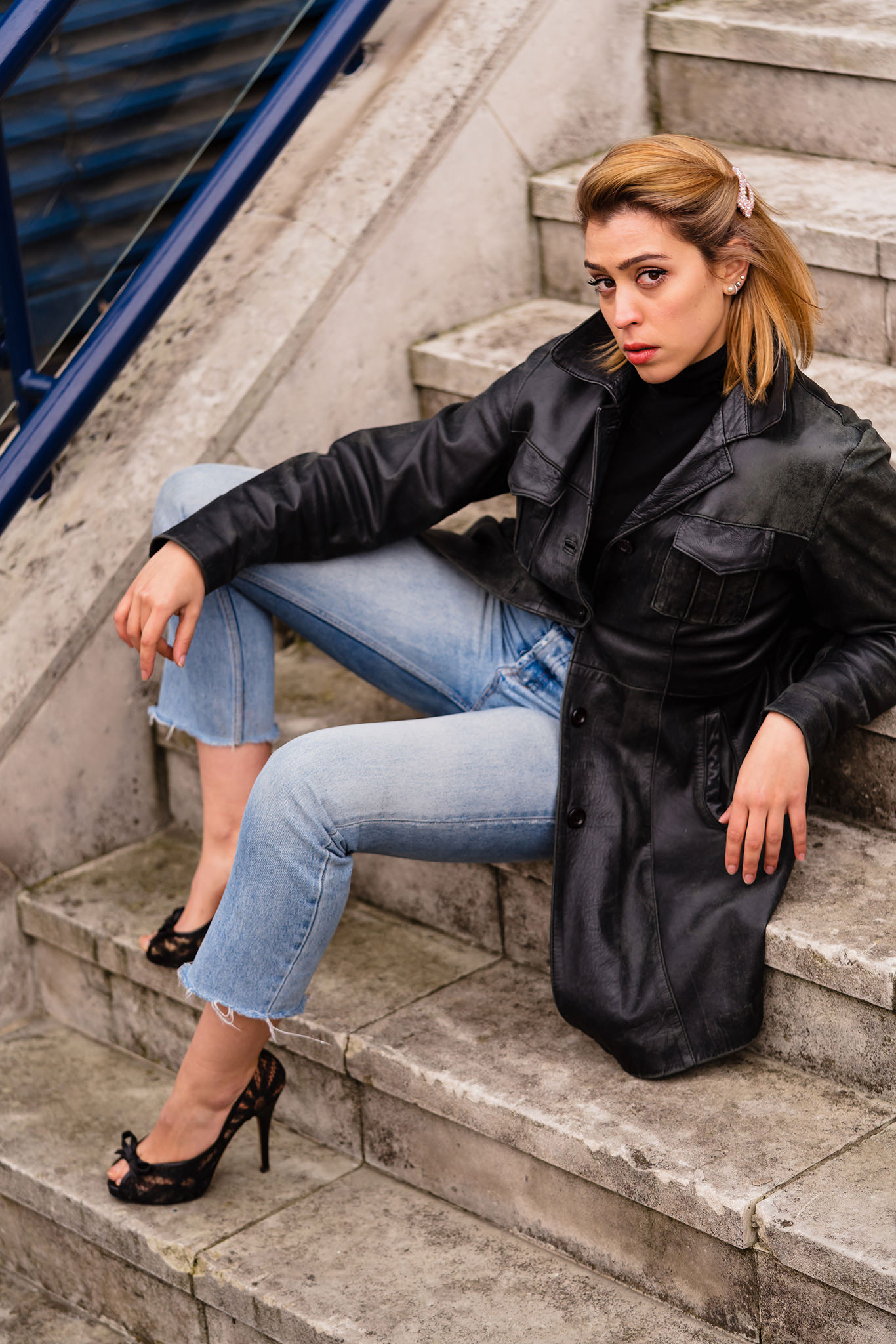 posed actress shoot